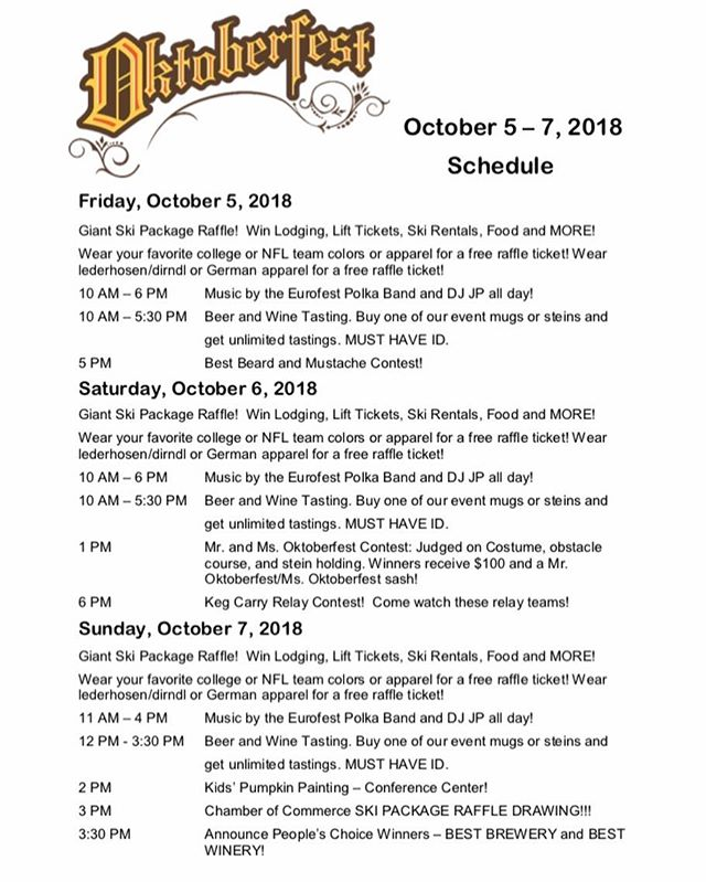 Check out the schedule for this weekend's Oktoberfest. There will be vendors, food, games, competitions, and, of course, BEER in Brandenburg Park Friday, Saturday, and Sunday!  For more information visit https://www.redriverchamber.org/oktoberfest/