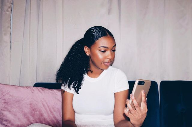 Yes, I'm in love with this ponytail!! . . . .  #myhaircrush #protectivestyles #curlynaturalhair #howtonaturalhair #naturalhairdaily #teamnatural #naturalista #naturalhaircommunity