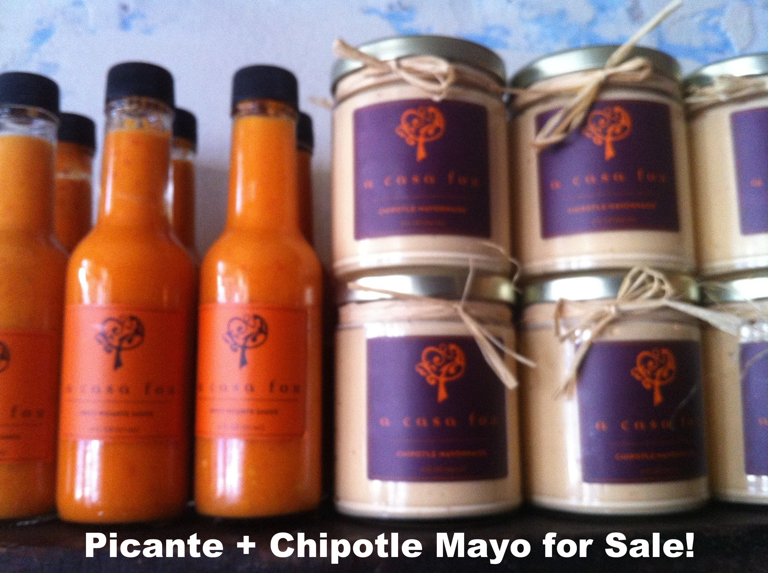 Picante Sauce and Chipotle Mayonnaise