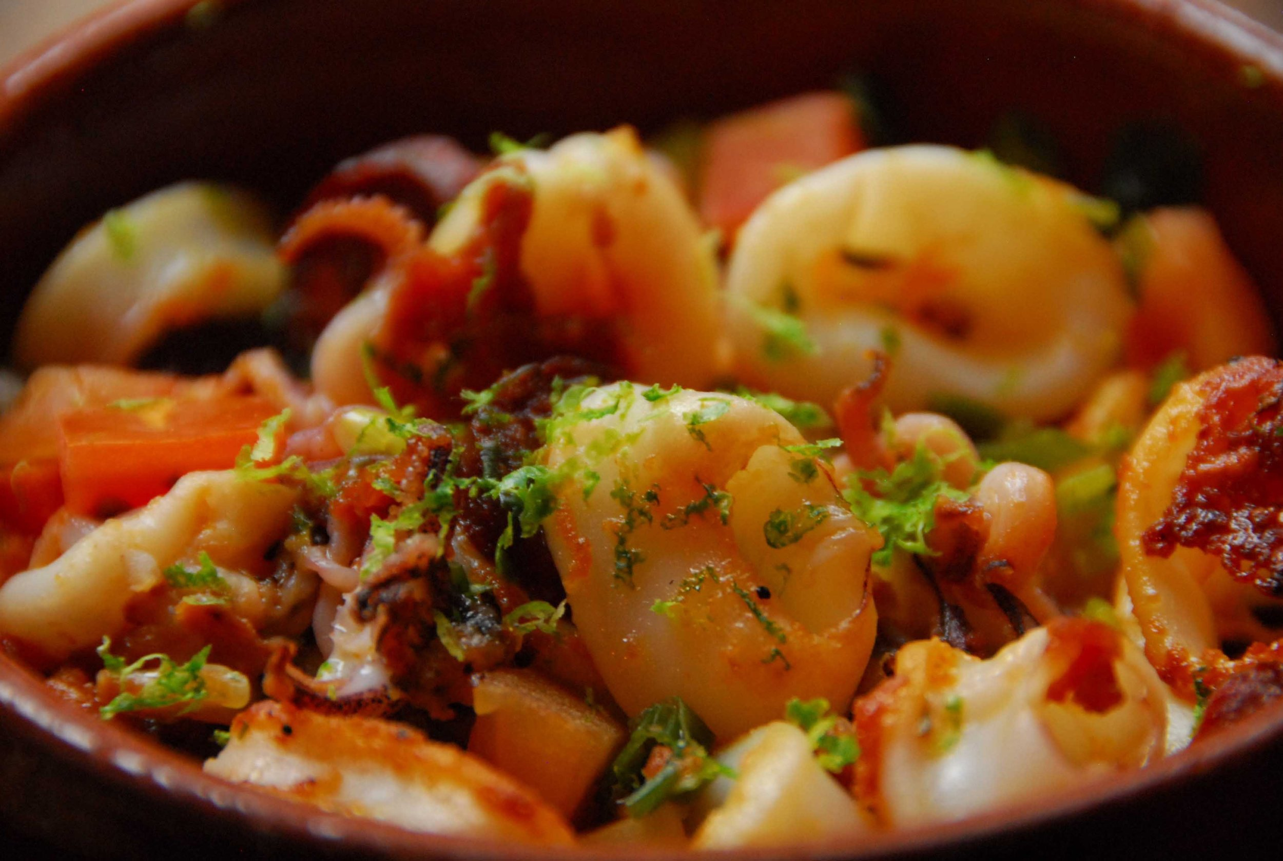 Seared Calamari with Chorizo