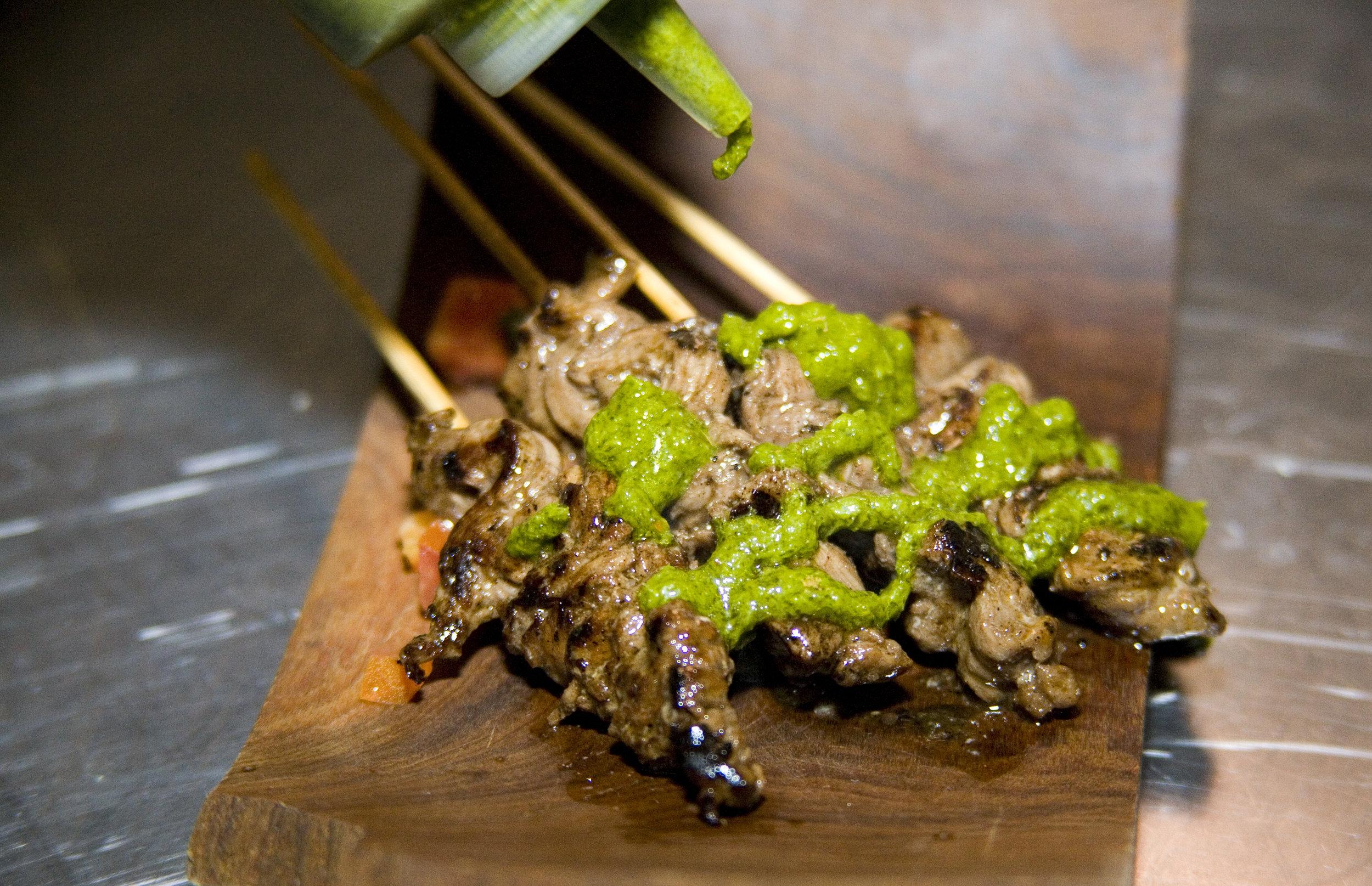 Beef Chimichurri Skewers