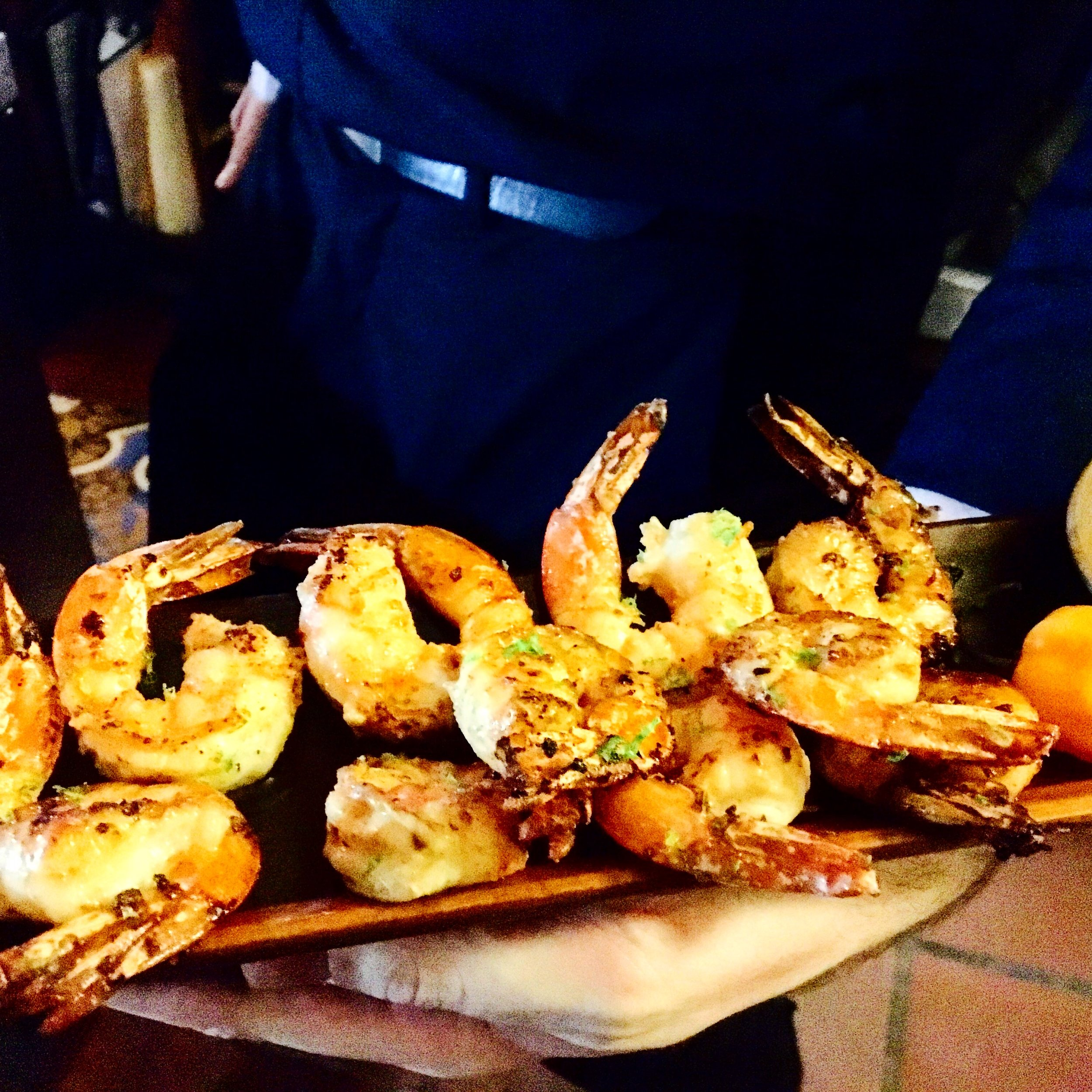 Seared Garlic Shrimp with Lime Zest