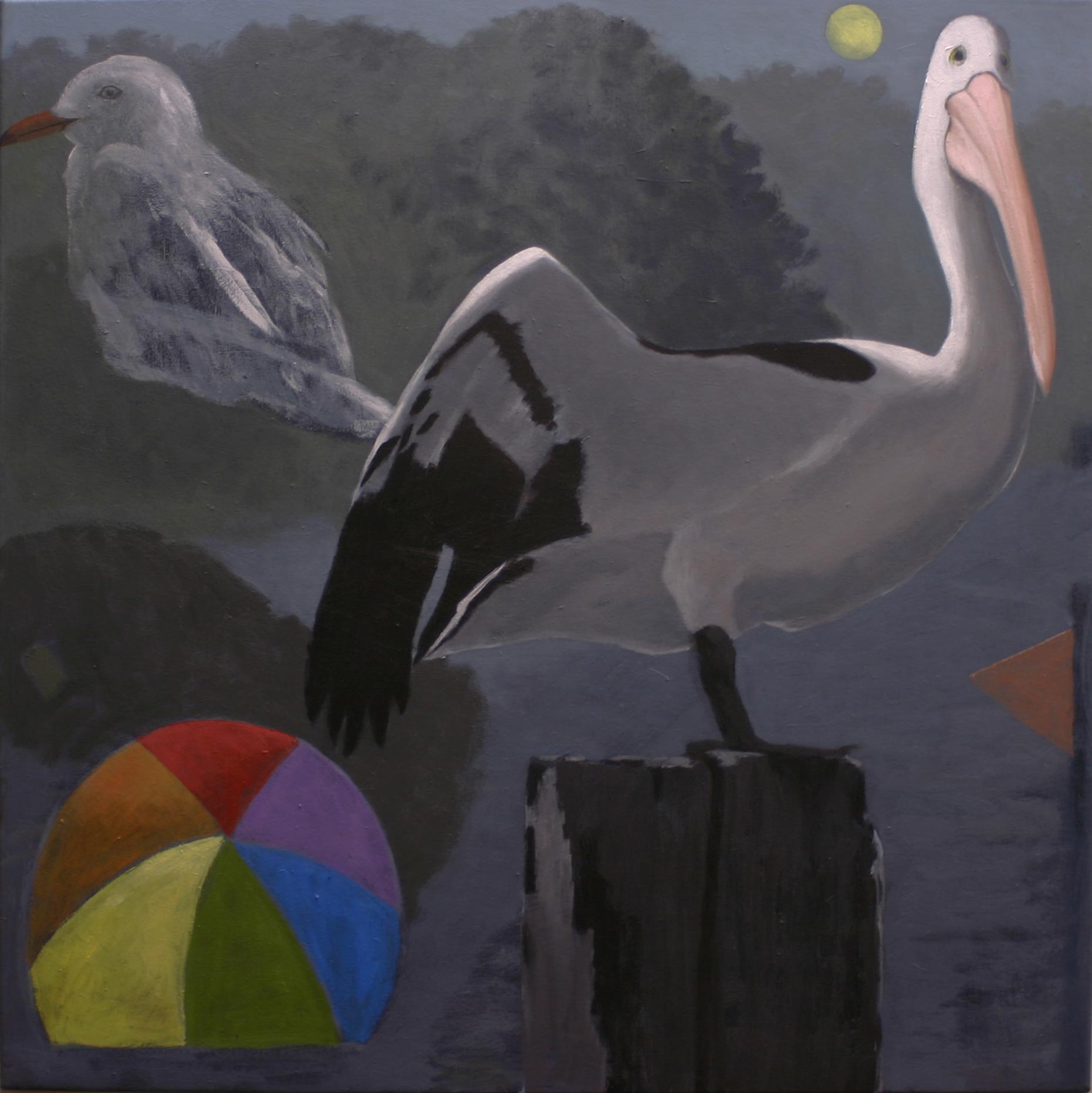 Yellow Moon  -oil on canvas- 92x92cm