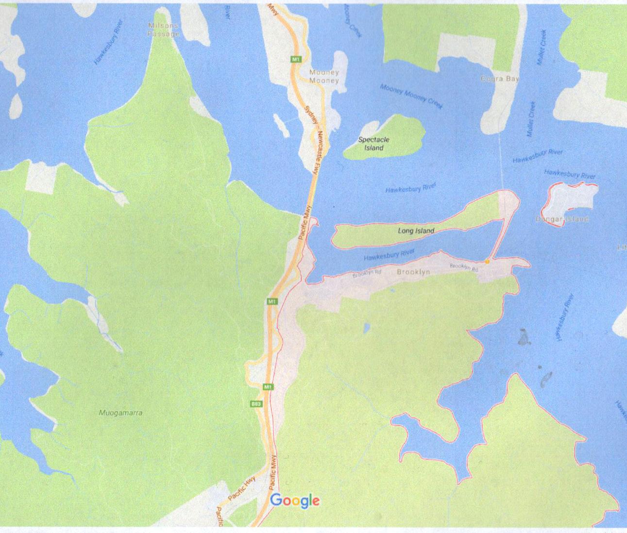 Brooklyn N.S.W. on the  M 1 50 km north of Sydney
