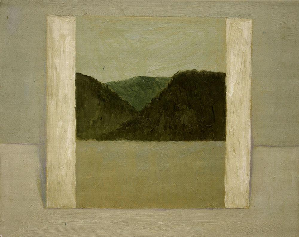 Fig 3.   'Image of Hawkesbury landscape'  -1998-oil on board 20x25cm