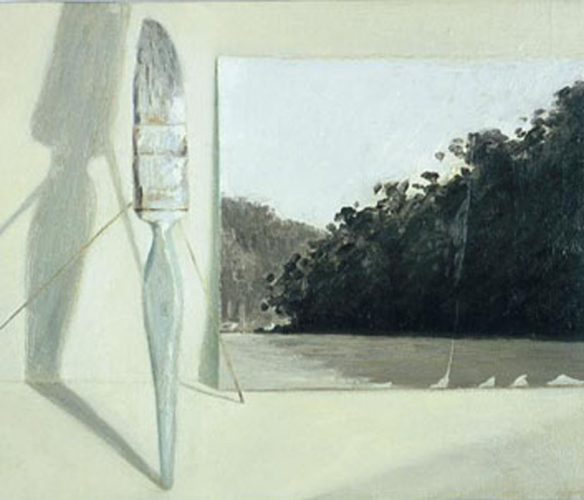 Fig.2   Brush with landscape-2006-  oil on canvas 30x30cm