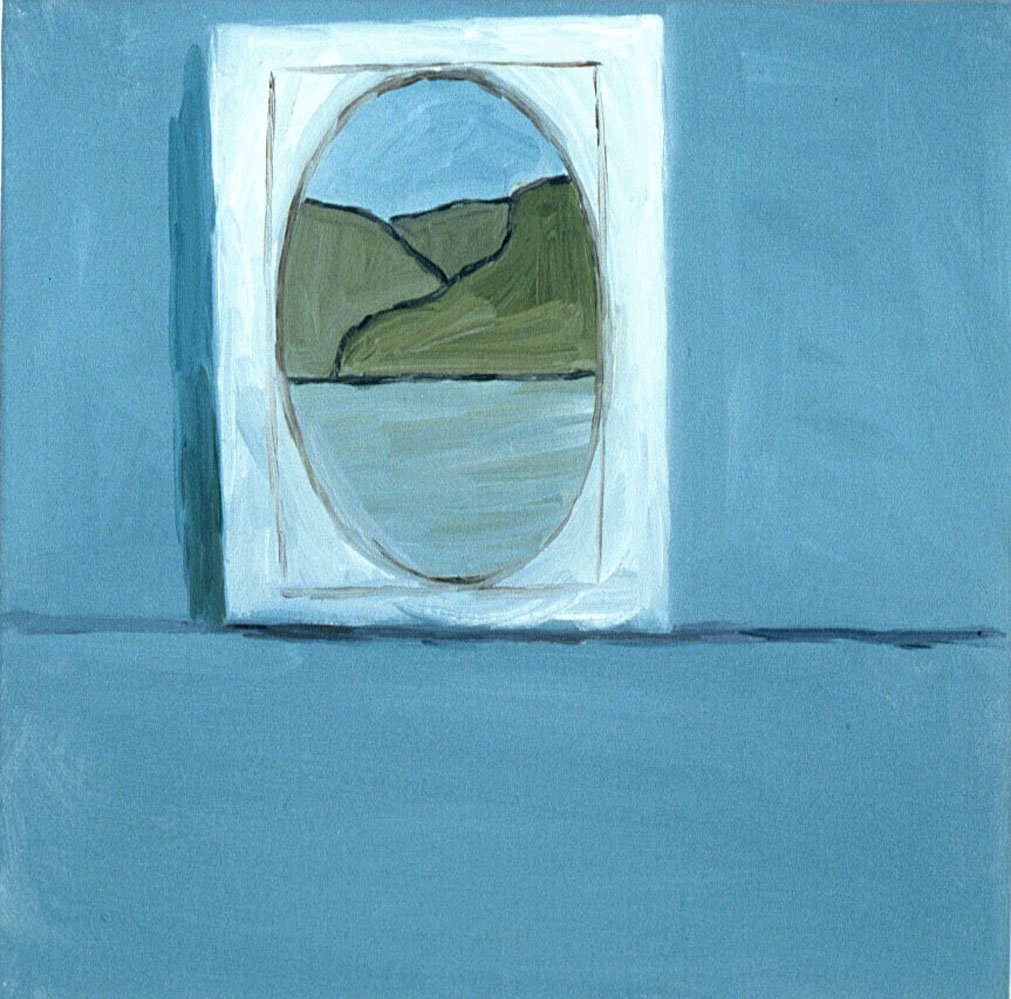 Fig.4   oval landscape -2004- oil on canvas 30x30cm
