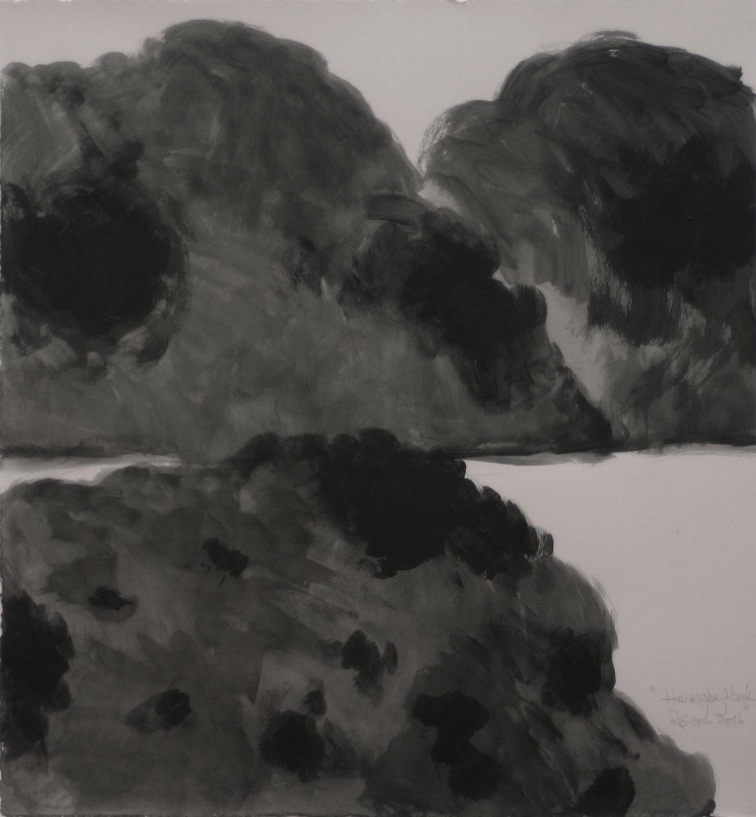 Hawkesbury Landscape -2015-w/c-41x38cm