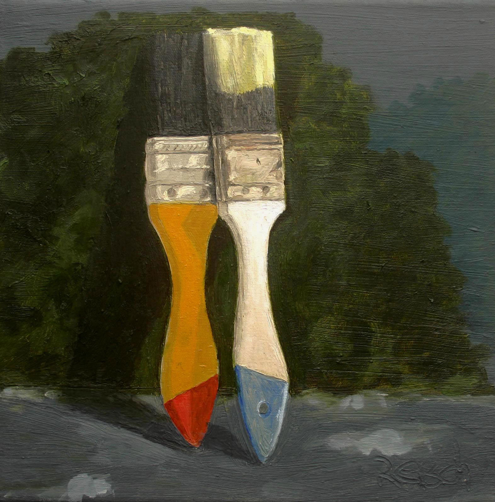 Midday Enigma   -oil on canvas 30x30cm  ($1,500)