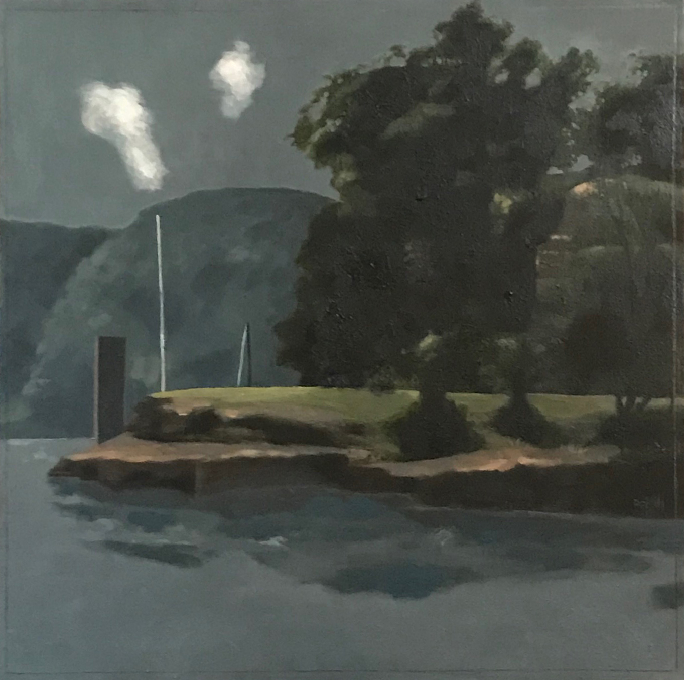 Flat Rock Point  -oil on canvas 50x50cm  ($1,800)