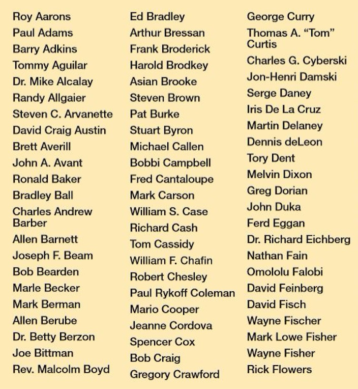 List of journalists and others who died of AIDS.