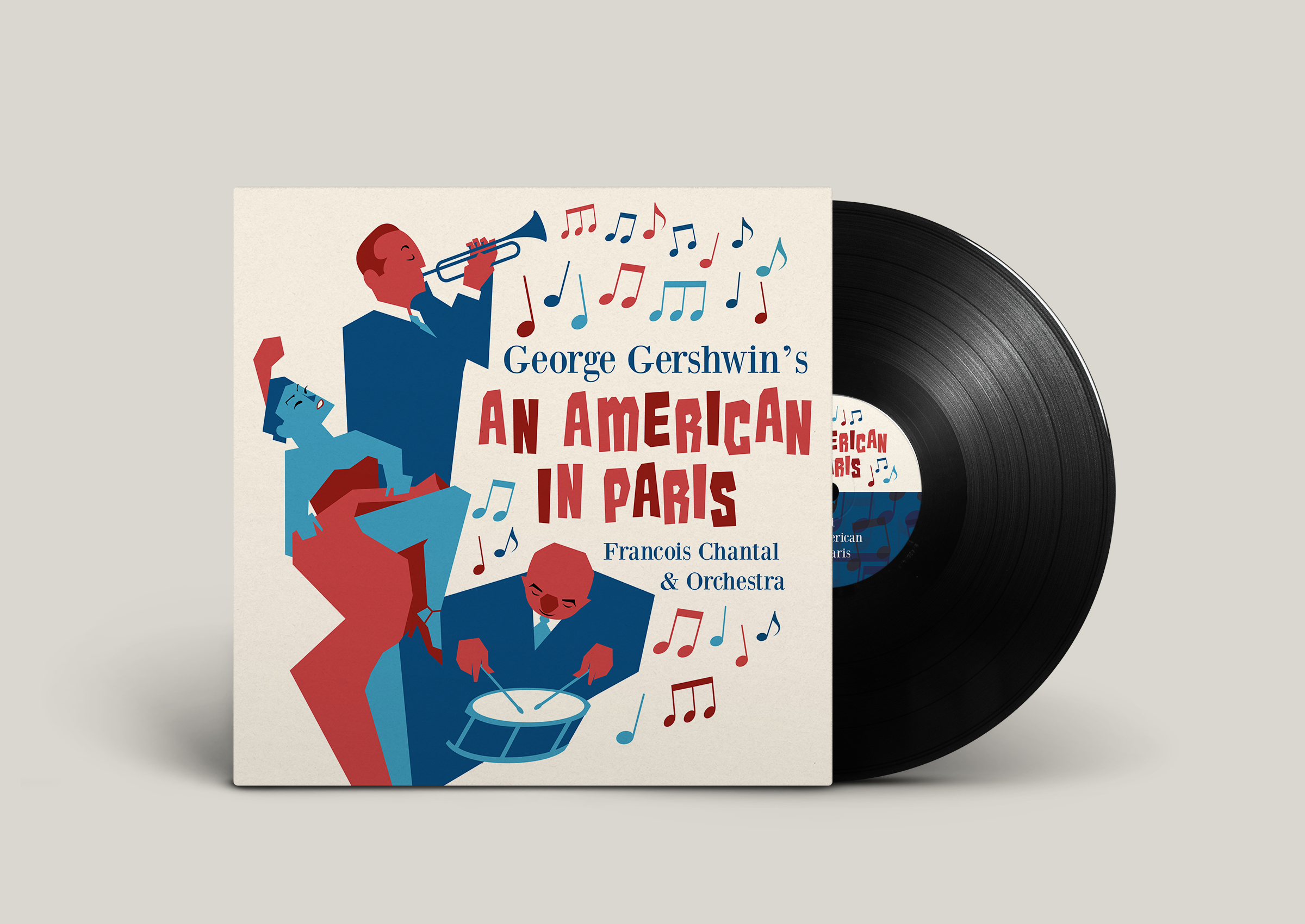 An American In Paris Vinyl Sleeve Design