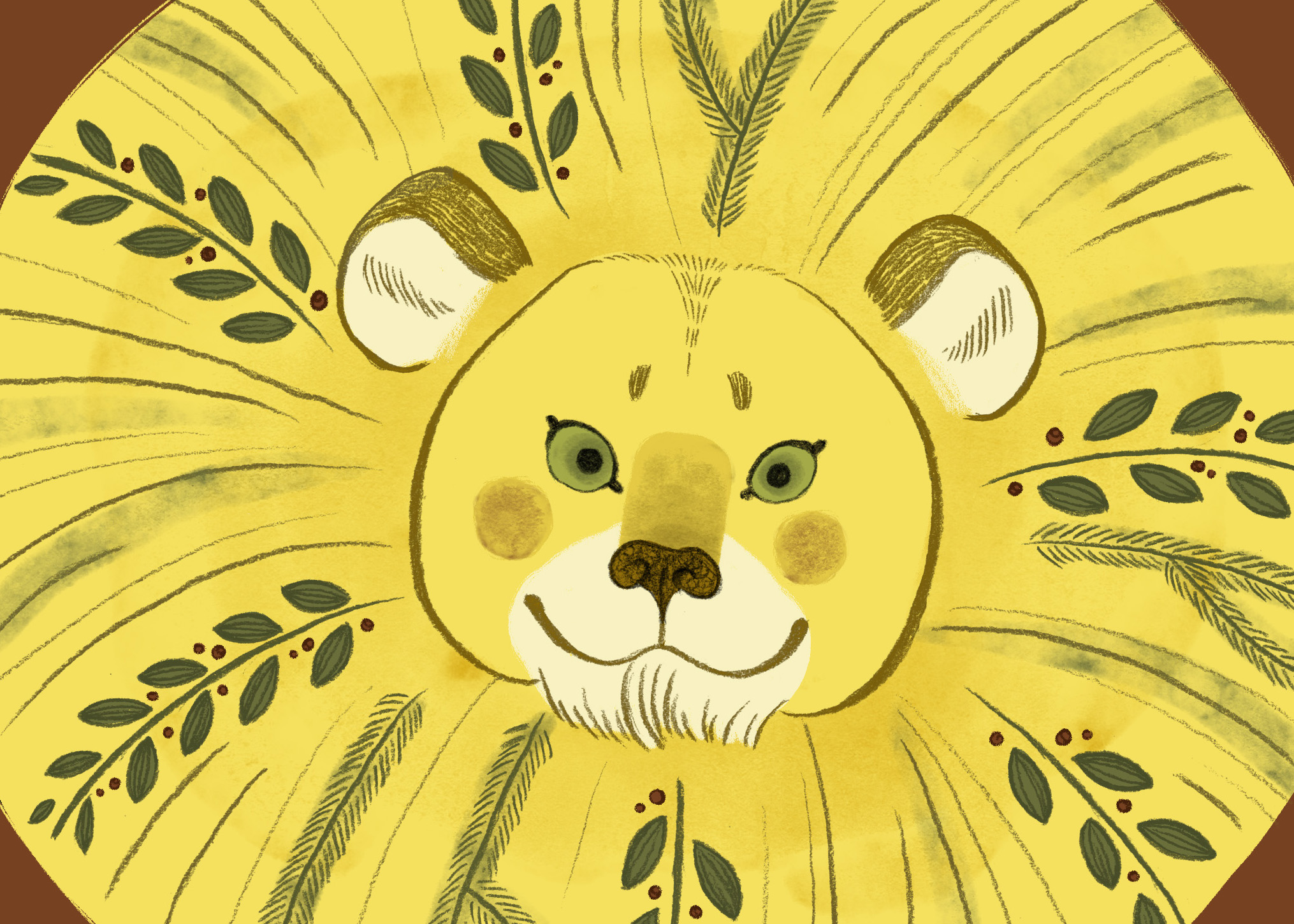 Holiday Lion Greeting Card