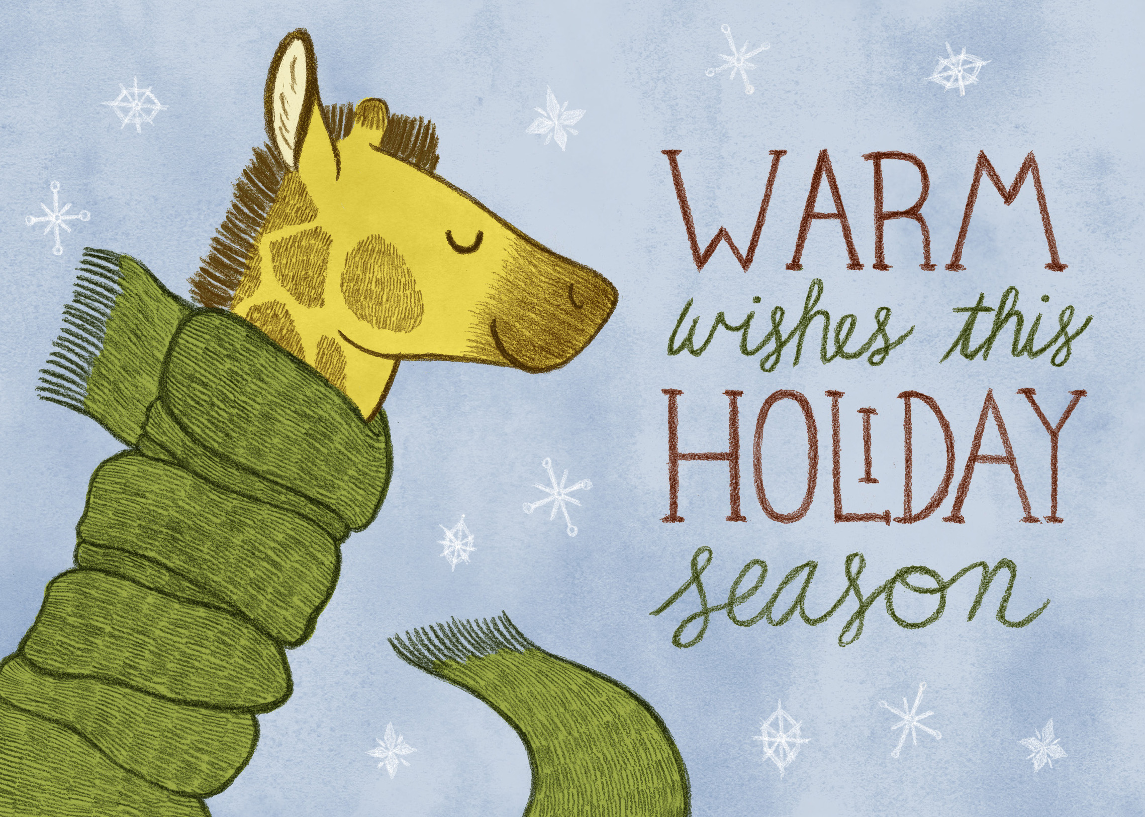 Holiday Giraffe Greeting Card
