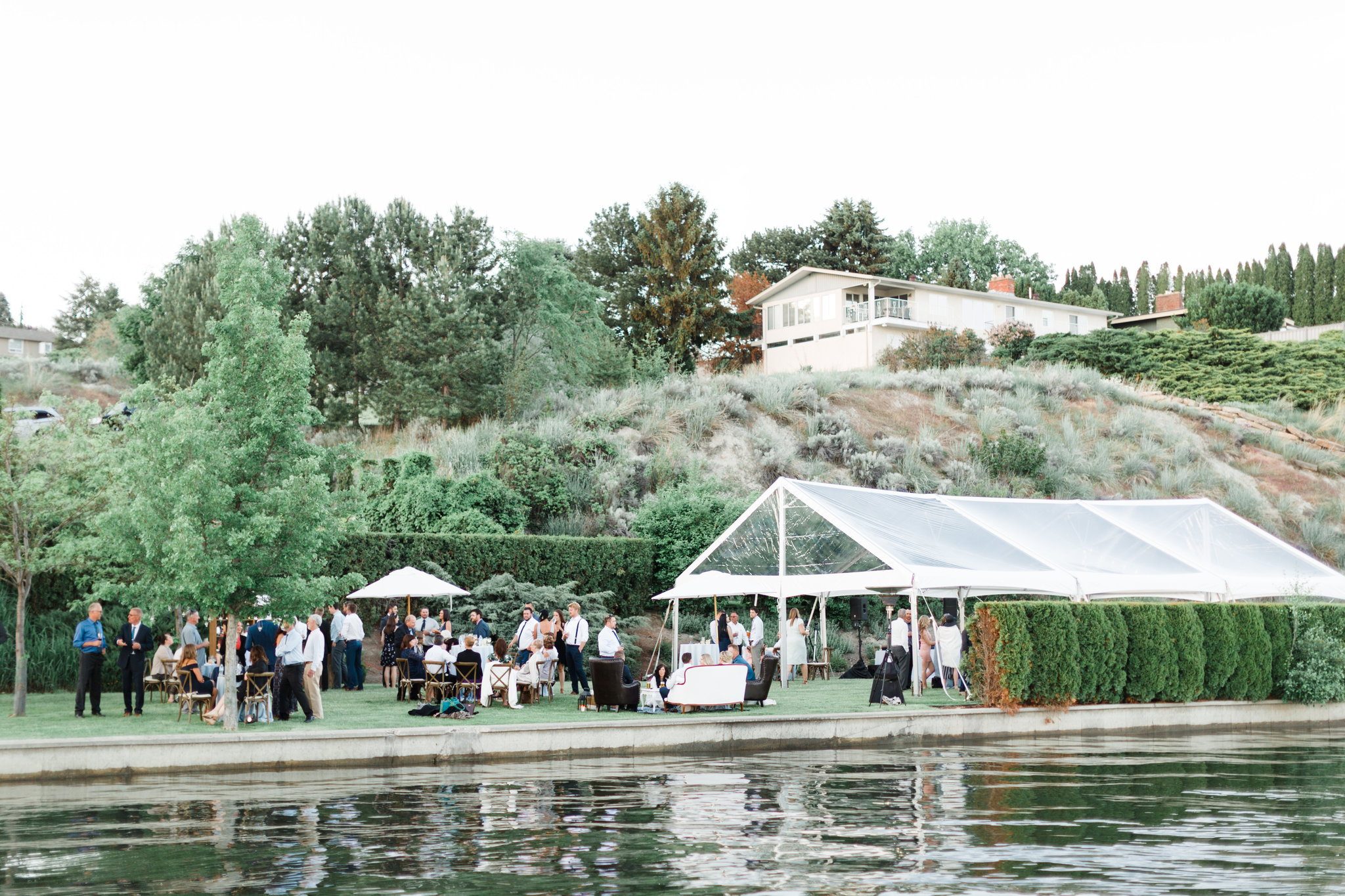 Photo of B&B's wedding at The Lake House at Quails Gate Winery | Photo by Blush Sky Photography