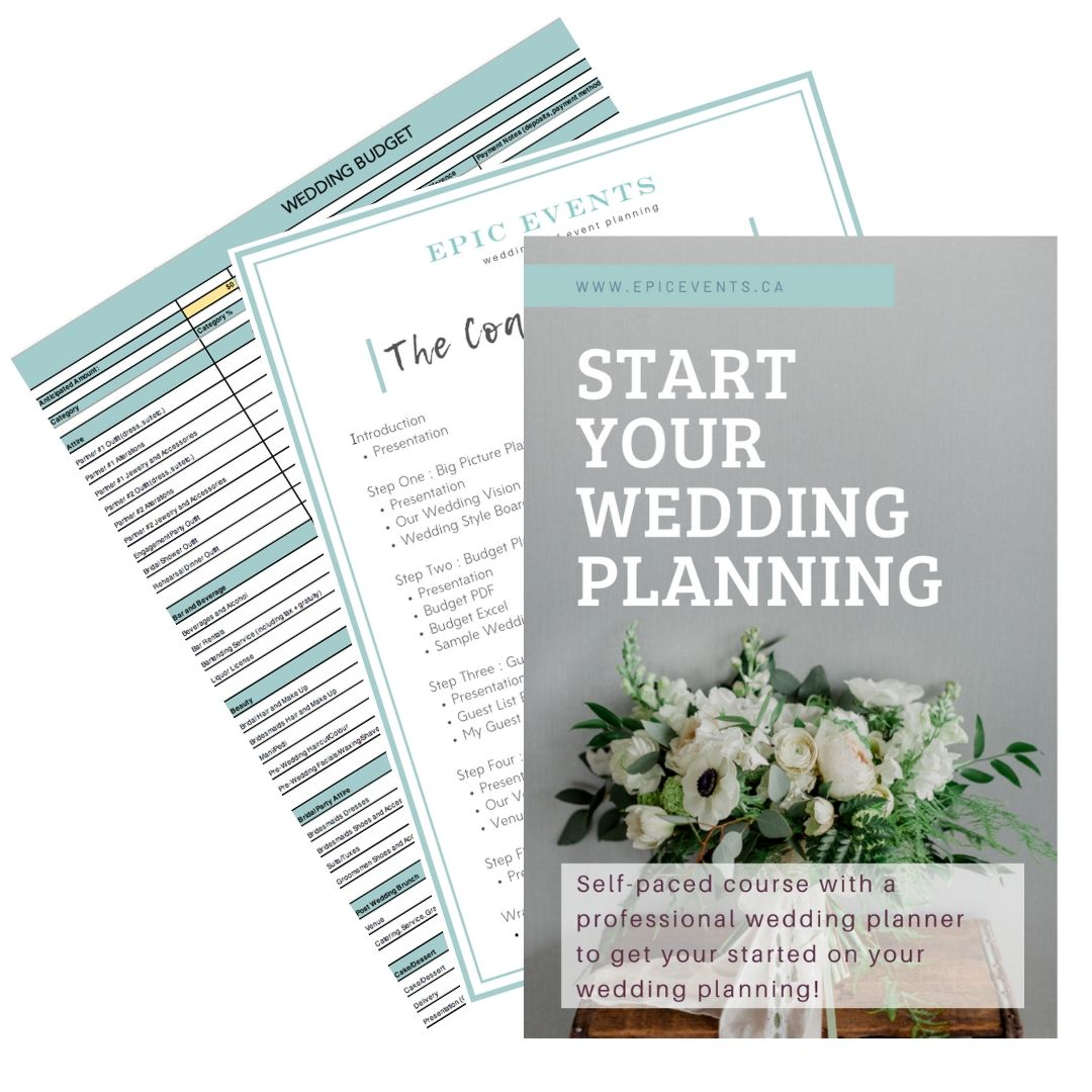Learn the first five most important steps in planning your wedding regardless of budget or how long you have to plan. - This self-paced digital course is designed to help engaged couples dive confidently into their wedding planning regardless of their budget or how long they have to plan. Starting to plan a wedding can be a daunting and overwhelming experience. This course will help couples navigate the first five steps in planning to ensure they are set up for success! We cover everything from big picture organization, budget planning, selecting a venue and more!We have included an easy to follow workbook and resource guide to help!