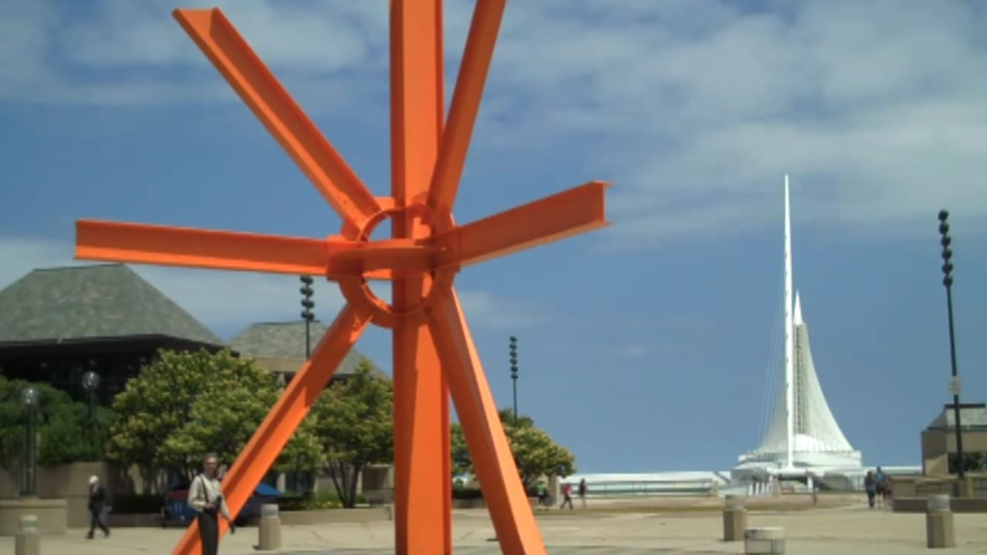Skrauss Speaks, You Listen -087: Big Orange Girder Thing, Art in Milwuakee