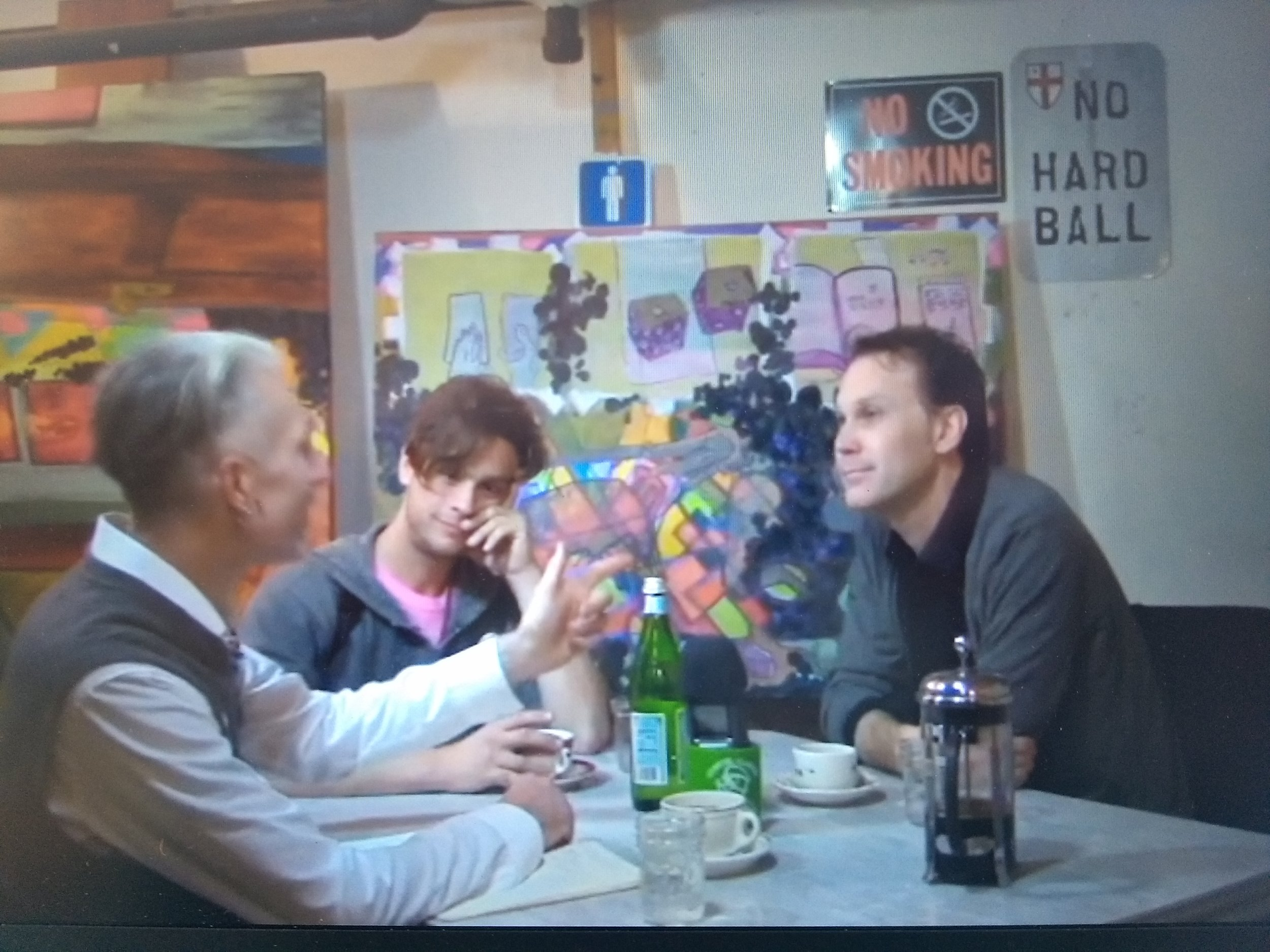 Image For Hire Video Interview  featuring three whimsical guys in civil discussion