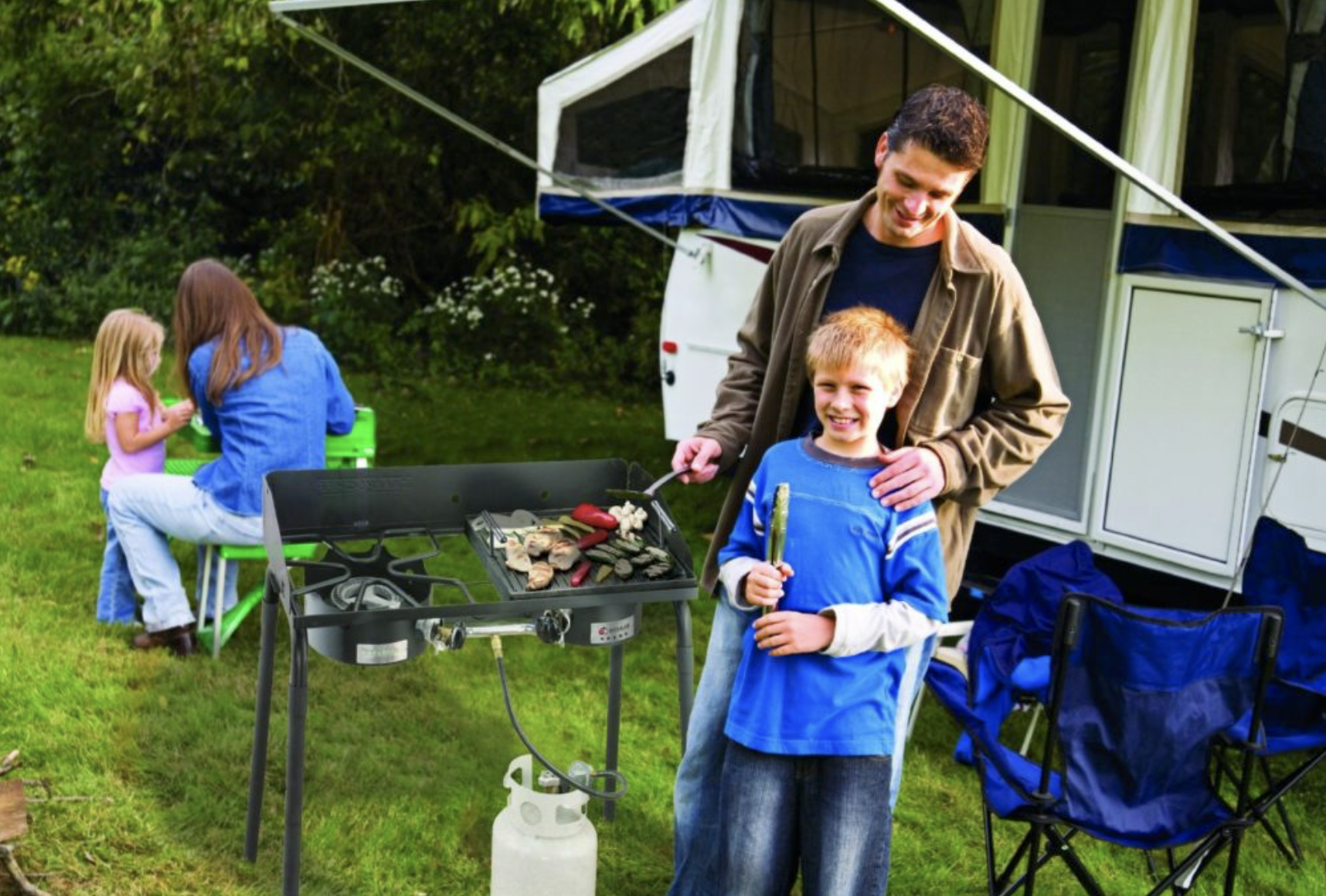 Outdoor cooking - is part of outdoor life, such as camping,hiking or cruising on small craft.