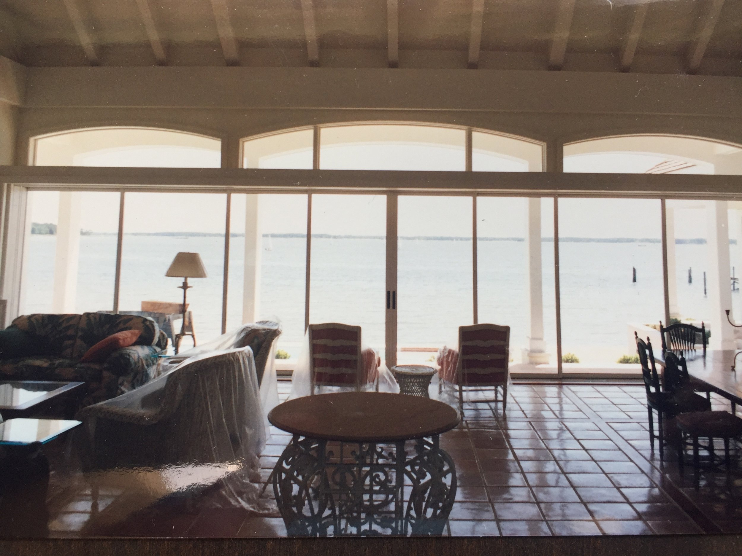 Living Room view to Fishing Bay