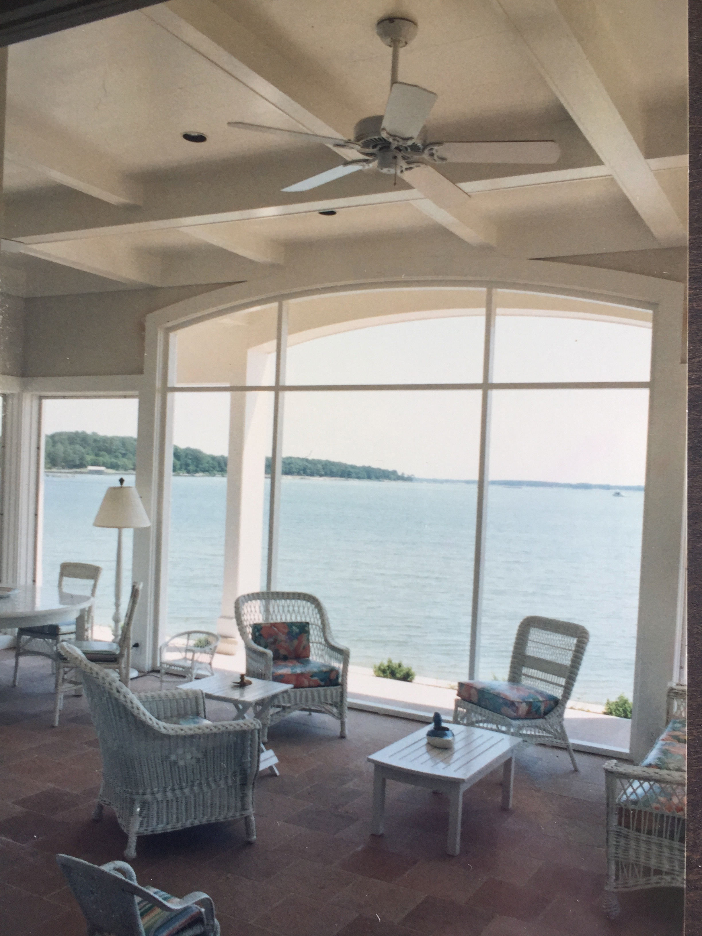 Screened porch overlooking Fishing Bay