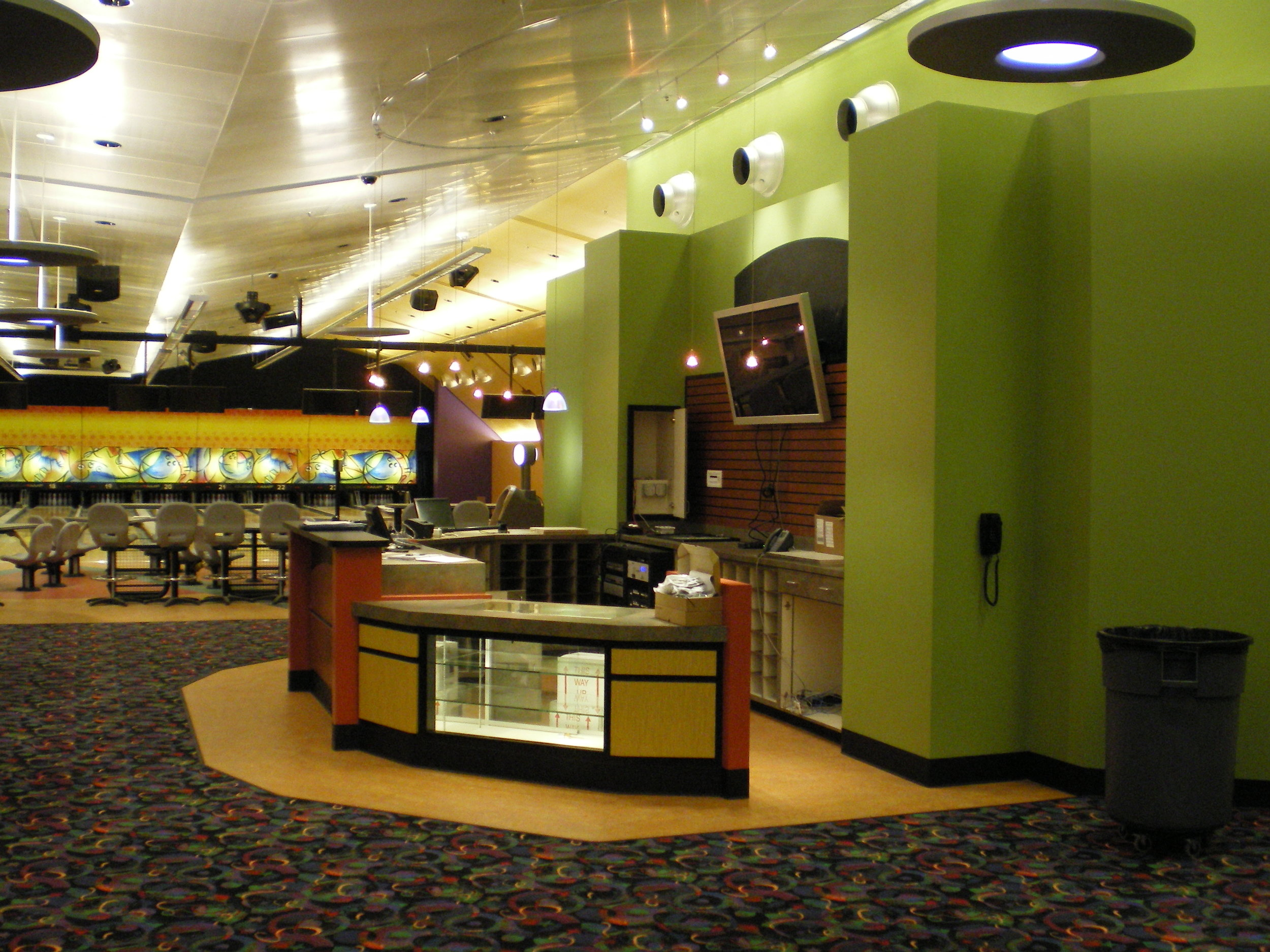 Customer Service Bowling Area