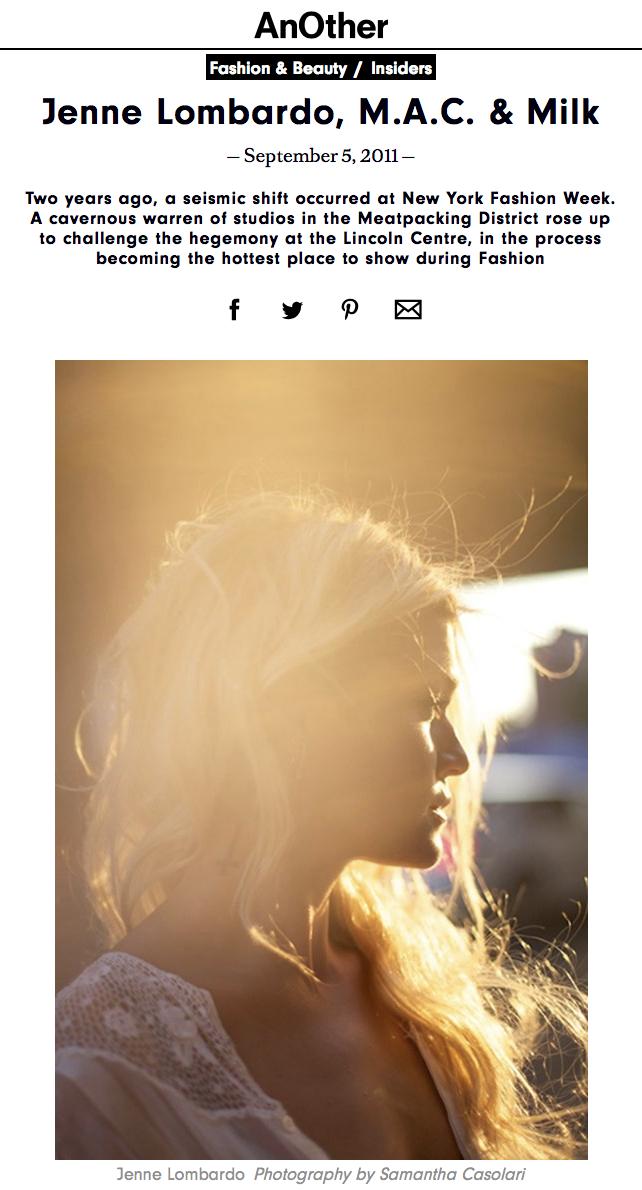 Another Magazine - Jenne Lombardo