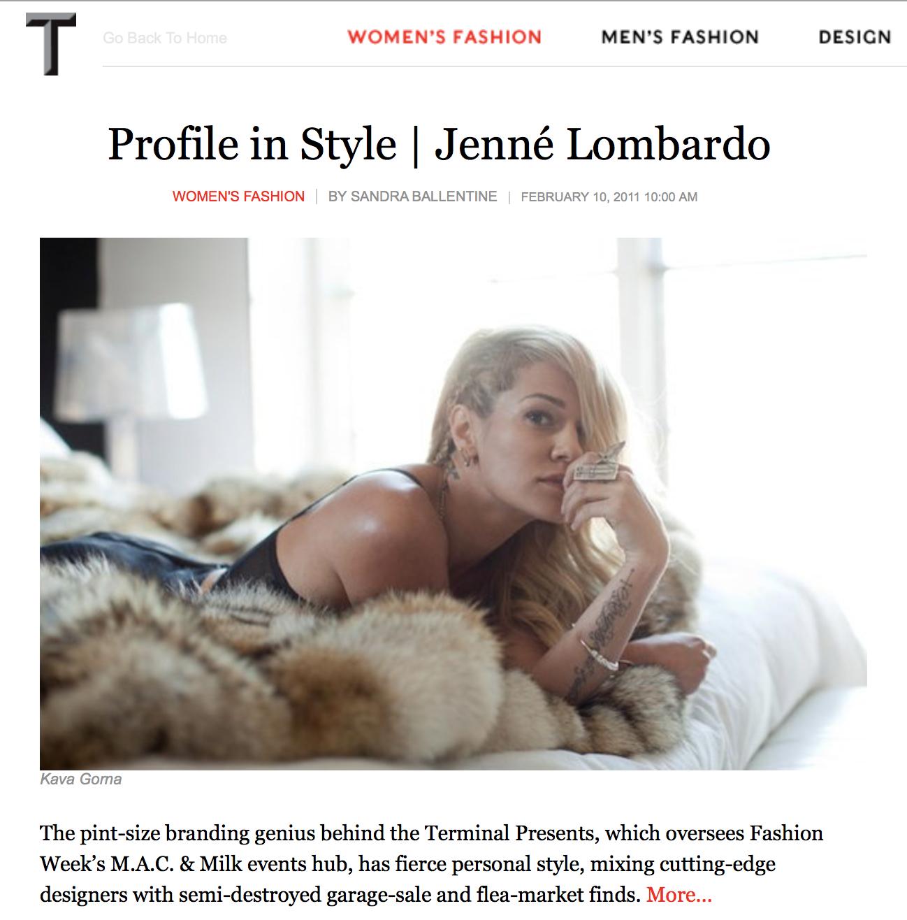 T Magazine - Jenne Lombardo - The Terminal Presents