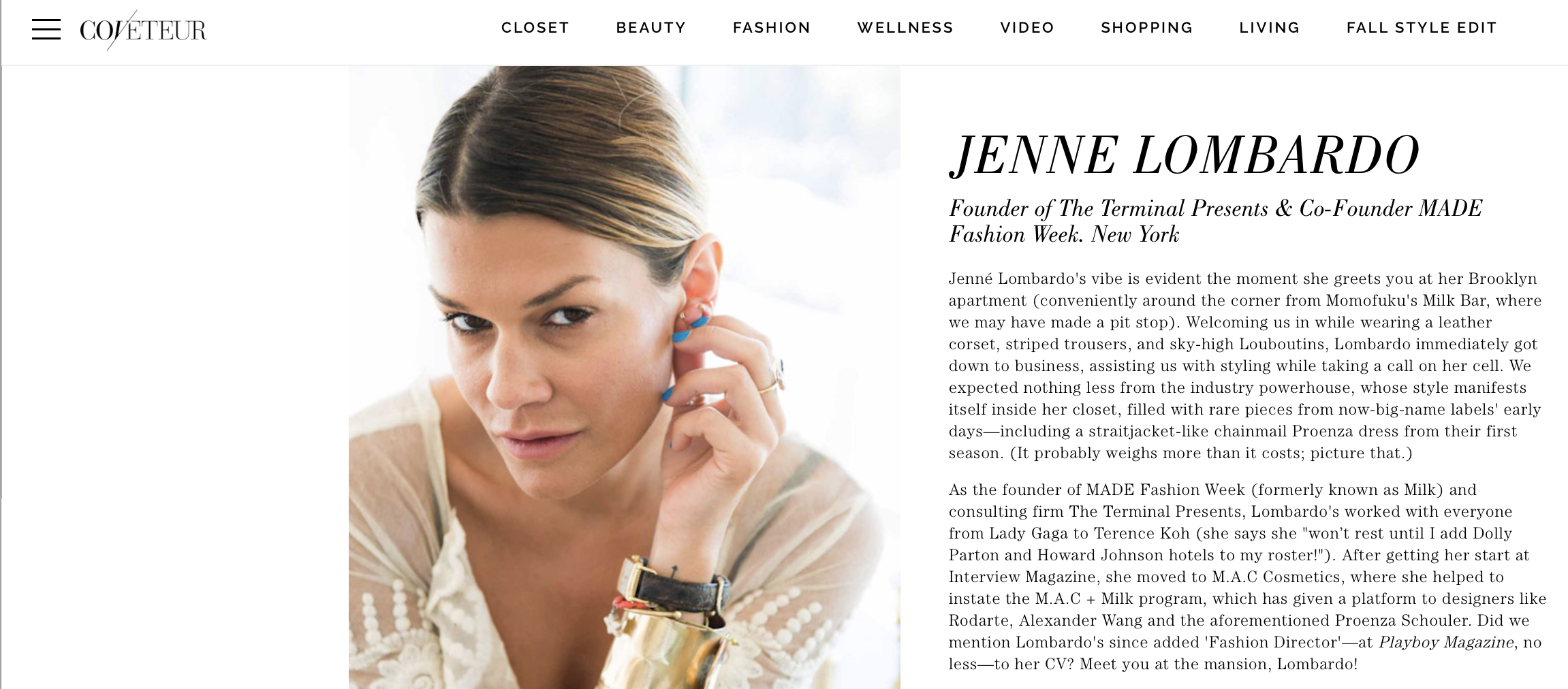The Coveteur - Jenne Lombardo - The Terminal Presents MADE Fashion Week