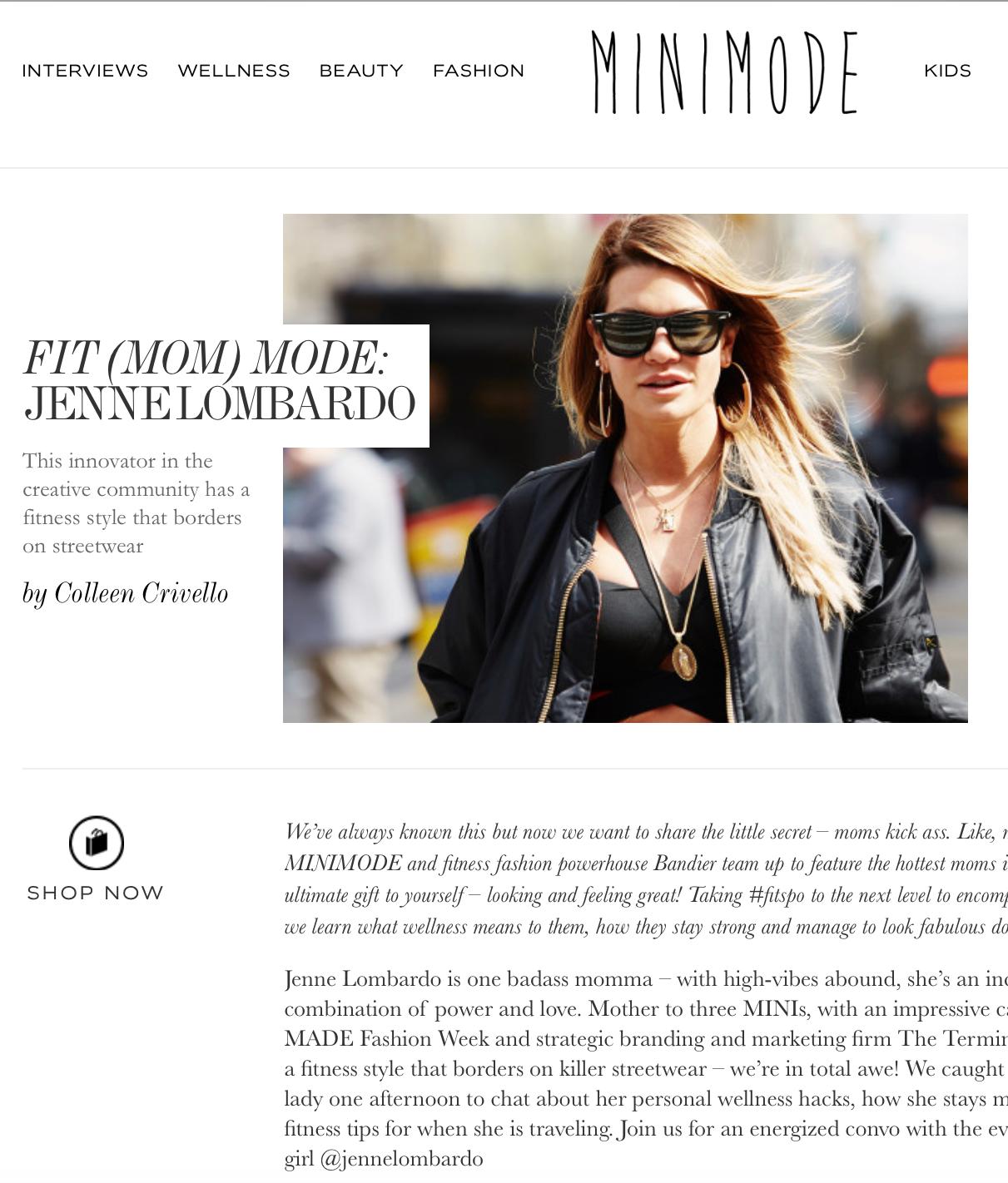 Mini Mode - Jenne Lombardo The Terminal Presents - Fit Mom