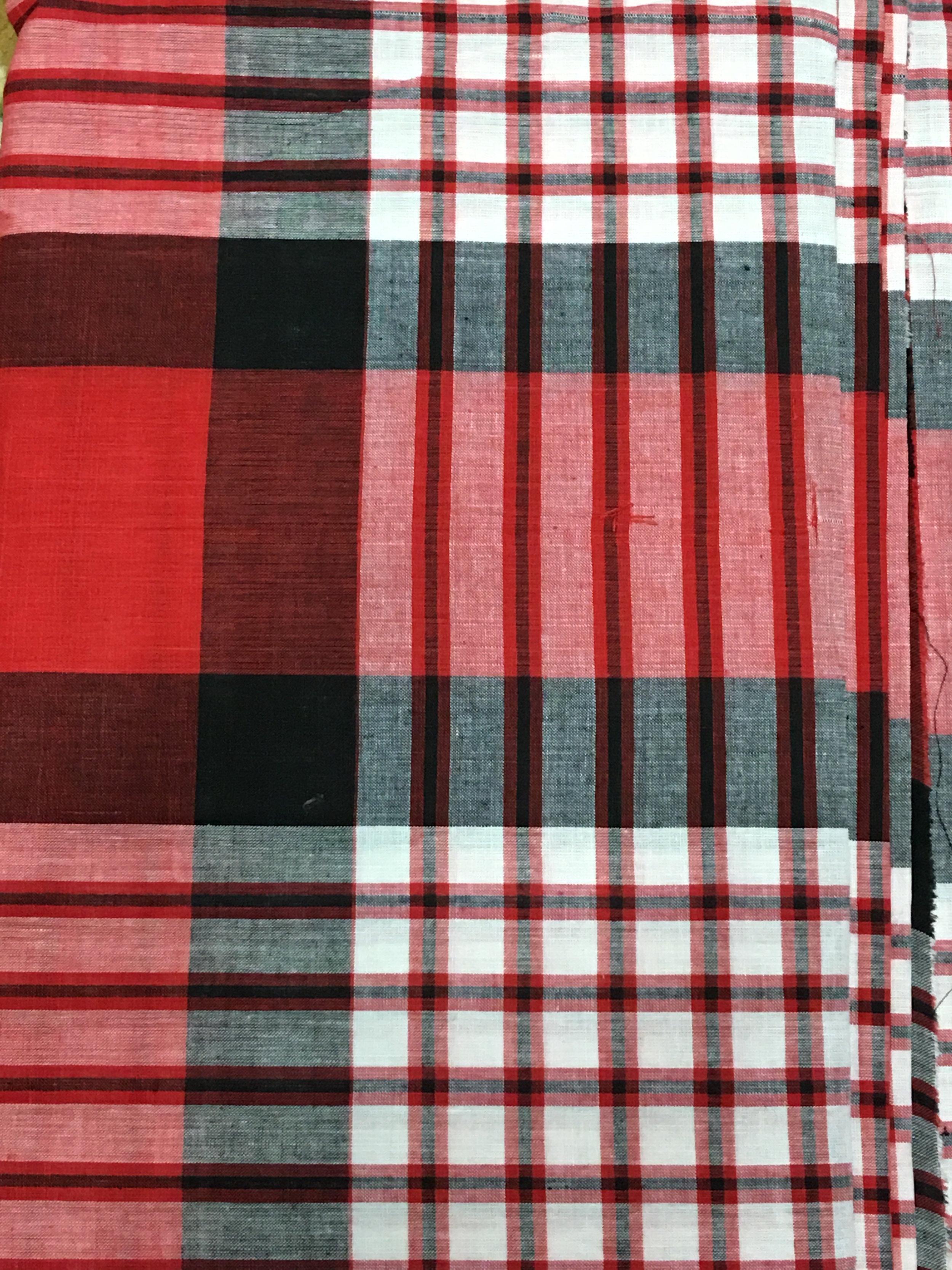 Red BlackWhite Plain George