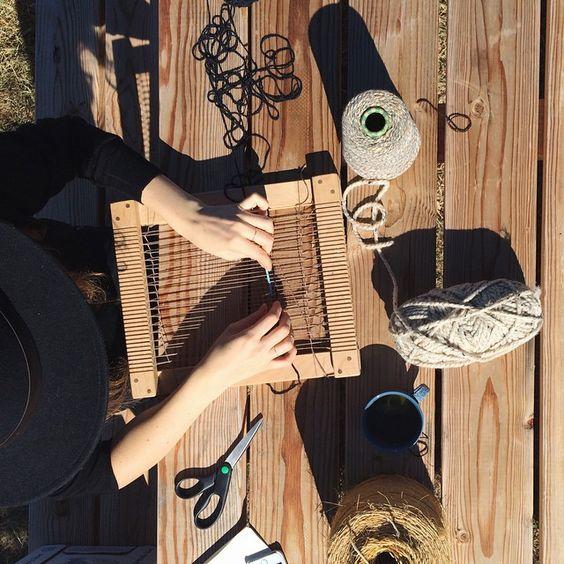 WildCraft Studio School Frame Weaving