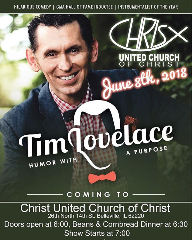 Join us on June 8th as we welcome in Christian Comedian, Tim Lovelace! #stlouis #missouri #belleville #comedy #familyfriendly #allarewelcome