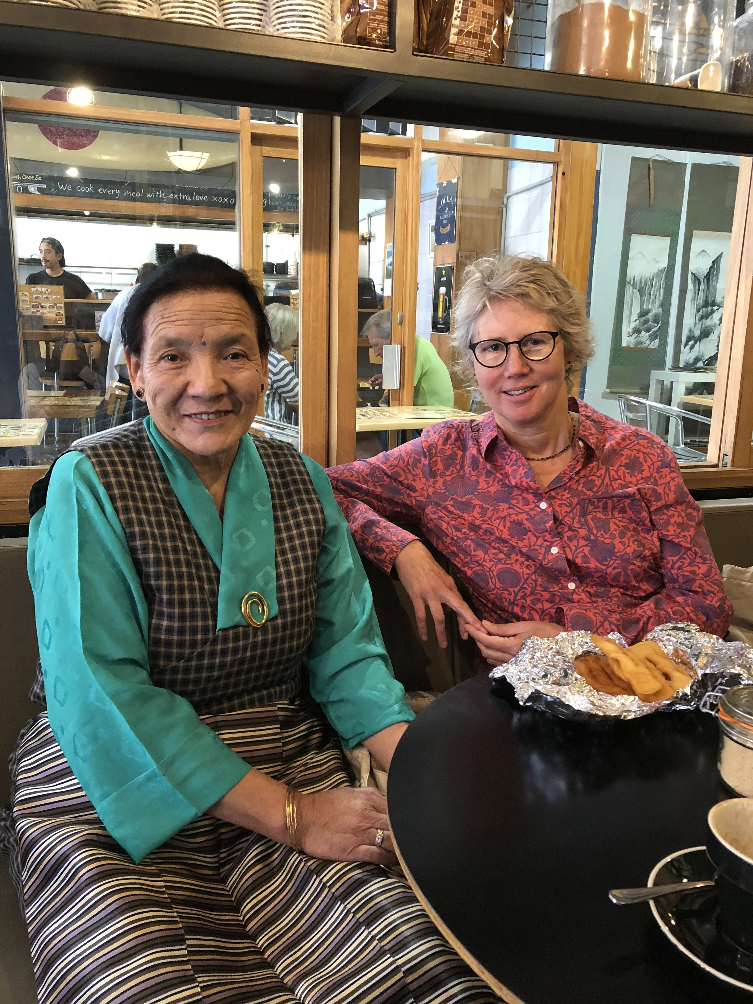 Tsering with Kay Neville