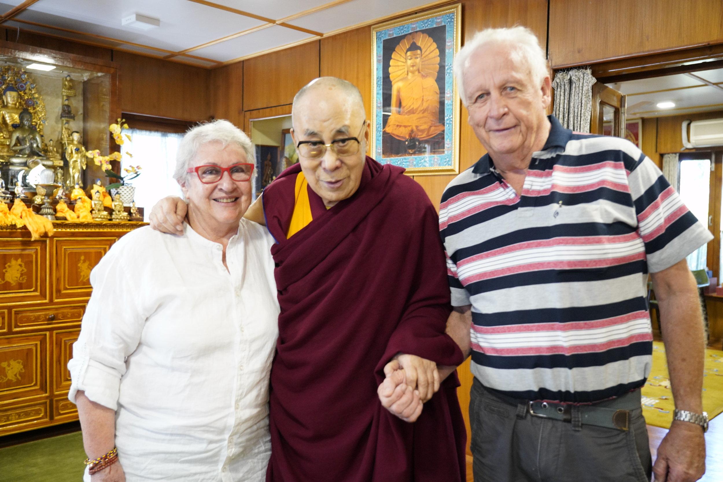 Maria Chidzey with Dalai Lama
