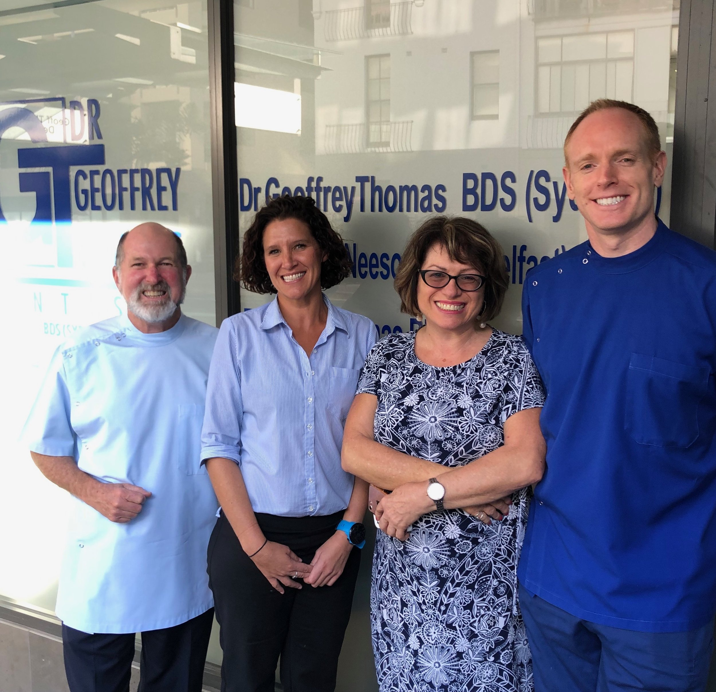Dr Geoffrey Thomas - Principal Dentist, Courtney - Practice Manager, Anona Le Page - Community Northern Beaches and  Dr Stephen Neeson - Dentist