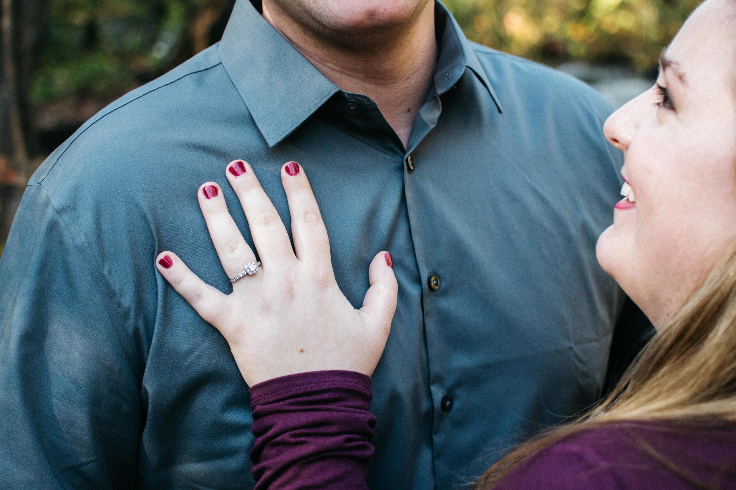 Autumn Ring Engagement Minnehaha Falls