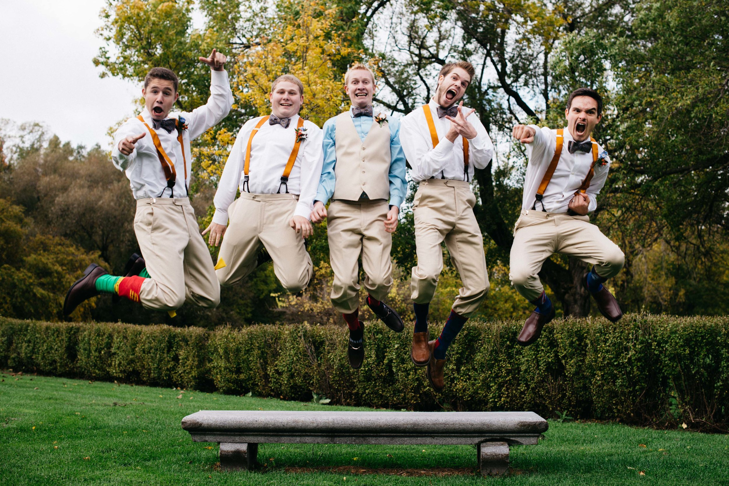Kevin & Jess Green Bay Wisconsin Pamperin Park Wedding Fun Groomsmen Portrait Trevor and Elisebeth are a husband and wife wedding photography and videography team based in Minneapolis, Minnesota.
