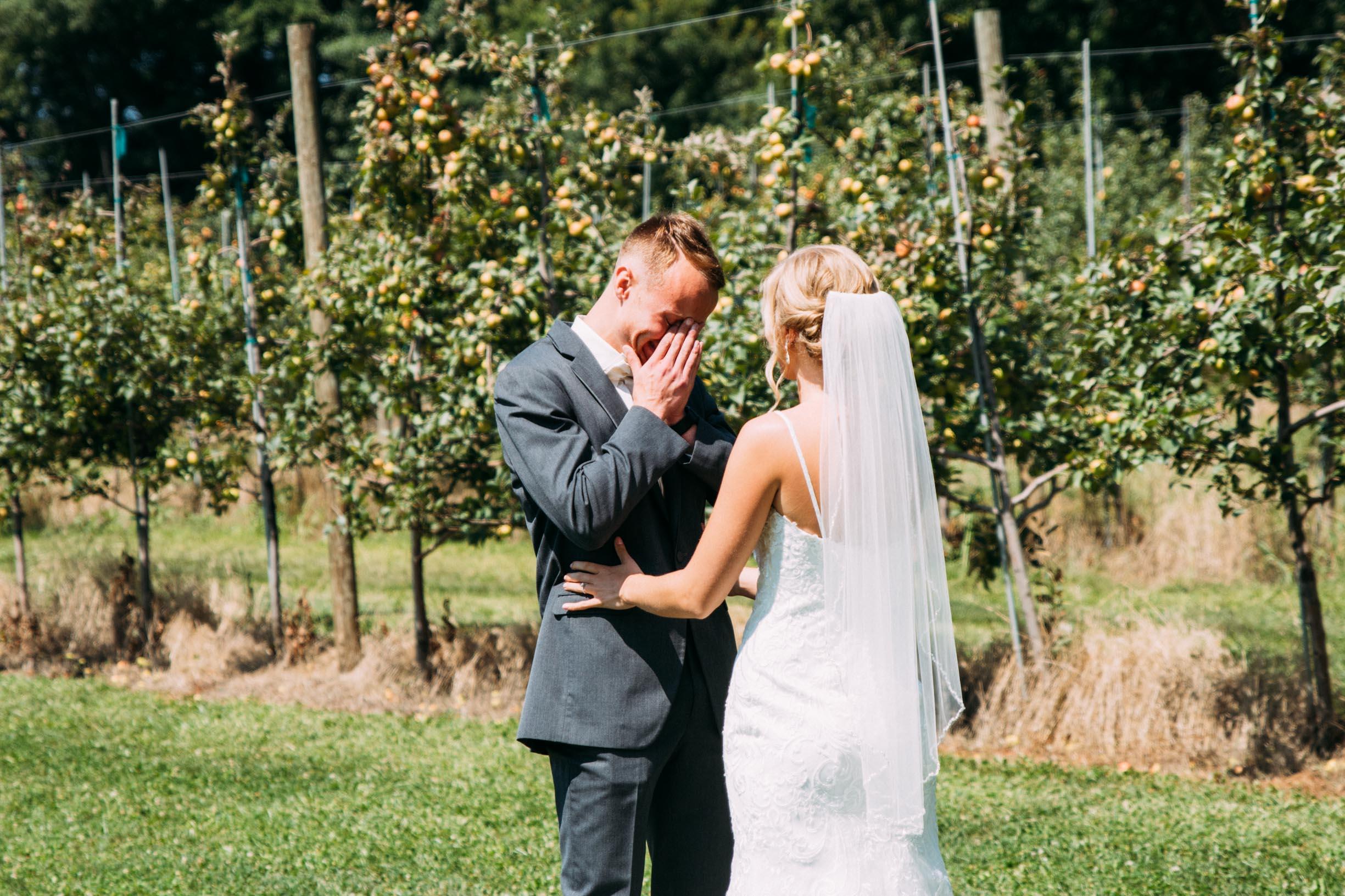 7-Minnetonka Orchards Wedding First Look Ashley Bryce Blog.jpg