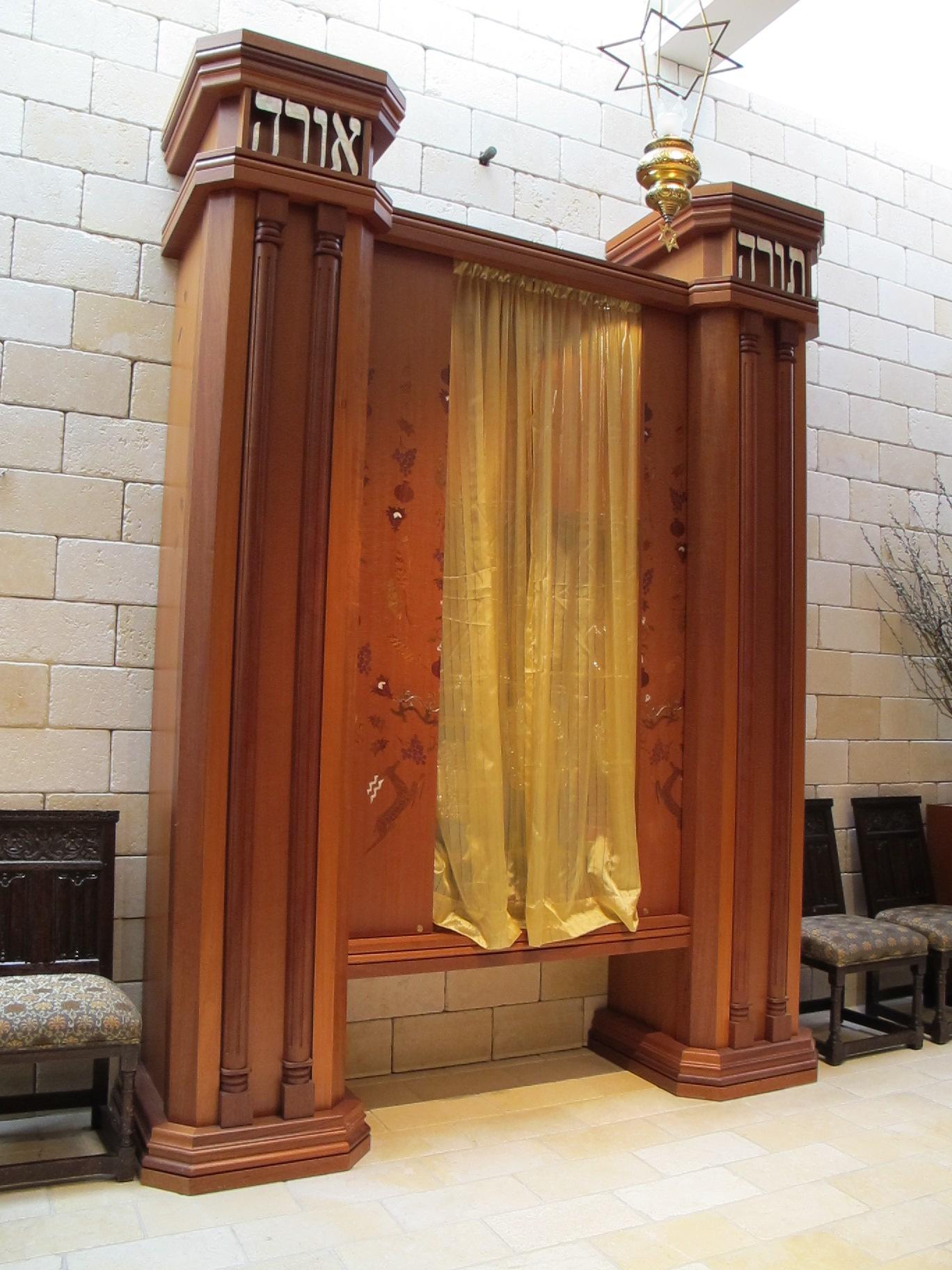 Torah Ark Sliding Doors Opened