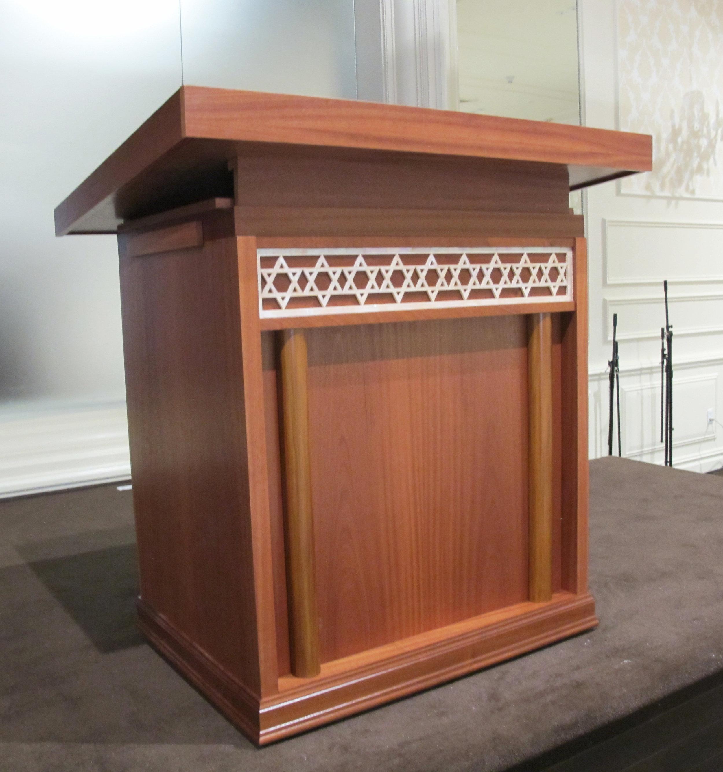 Mahogany Bimah Table