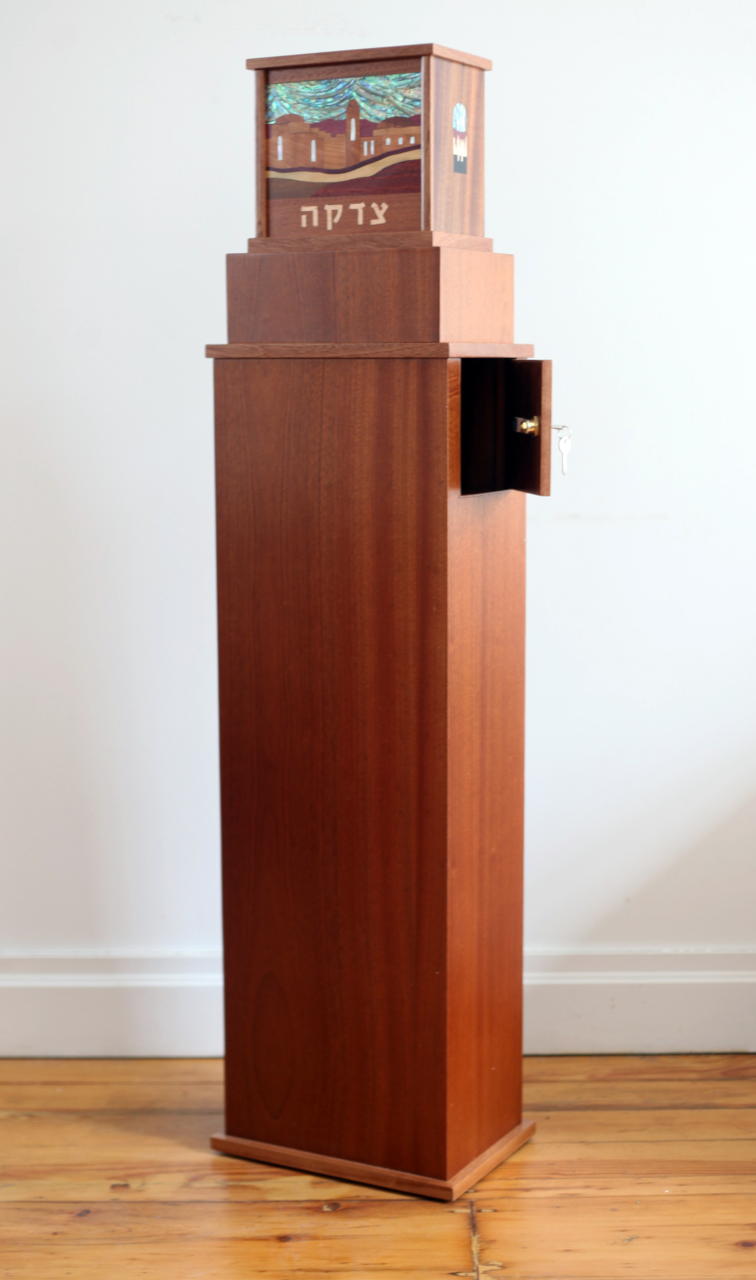 Tzedakah Box on Stand