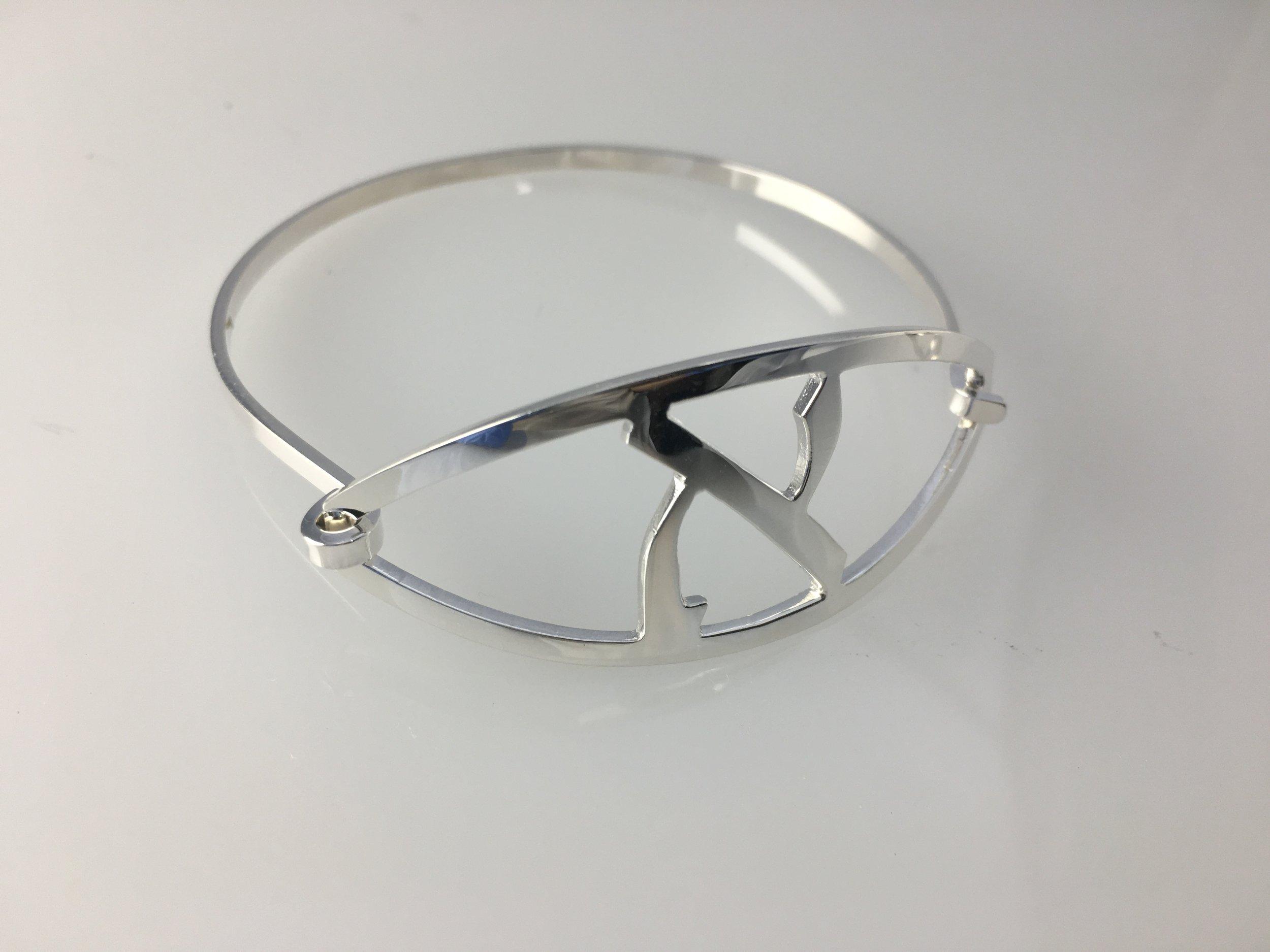 Alef Sterling Silver Bracelet Judaic Jewelry