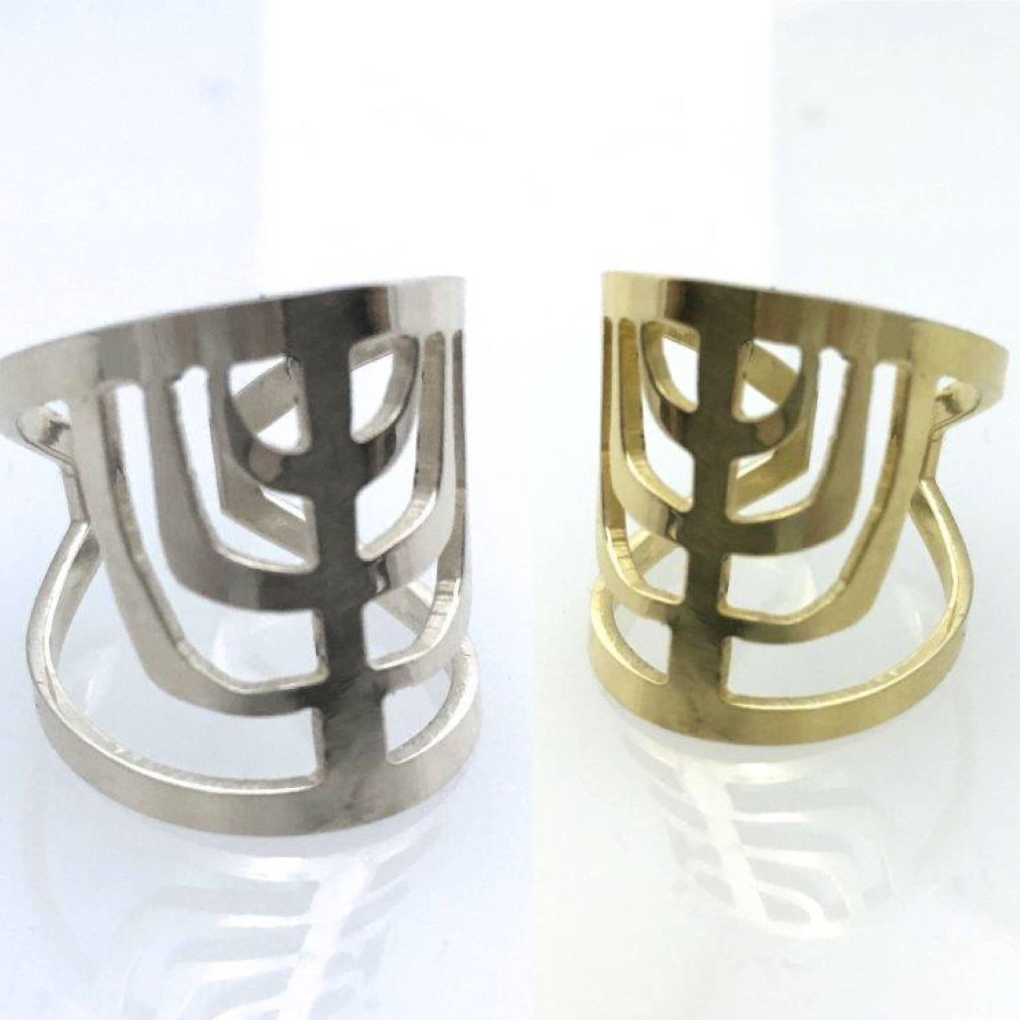 Menorah Rings Judaic Jewelry