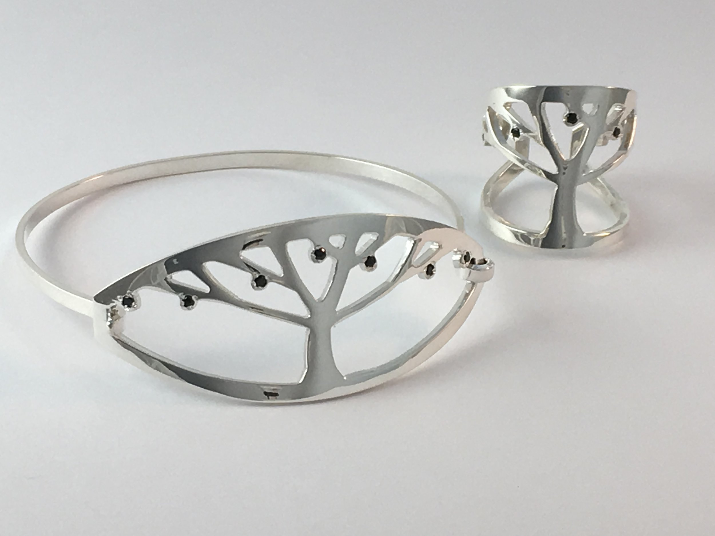 Tree of Life Bracelet and Ring Judaic Jewelry