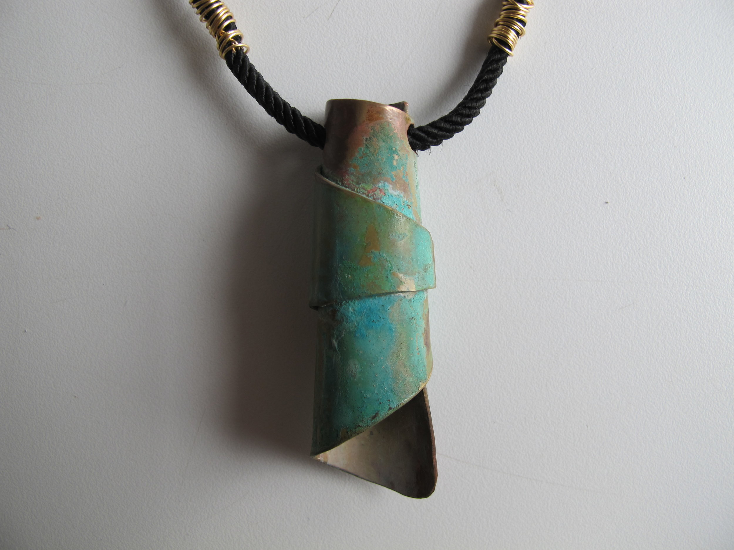 Patina Scroll Amulet Judaic Jewelry