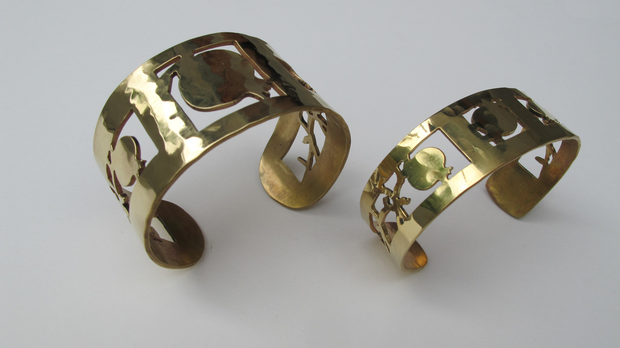 Pomegranate Cuff Judaic Jewelry