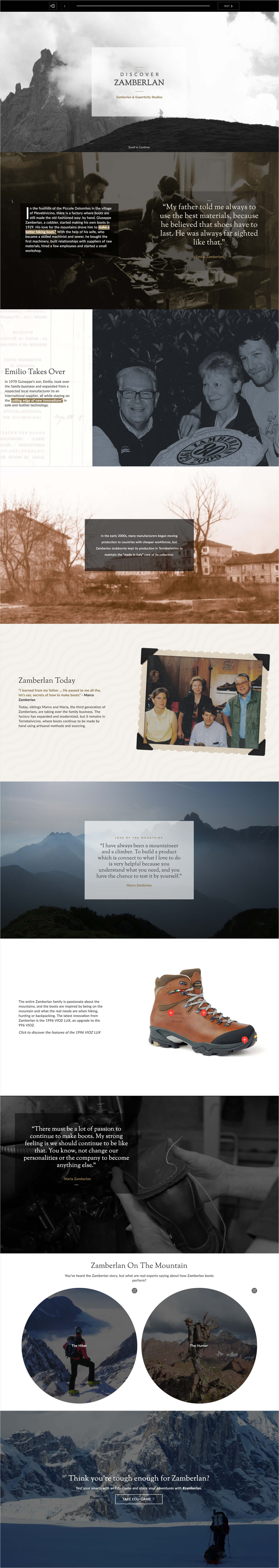 Zamberlan eLearning campaign design