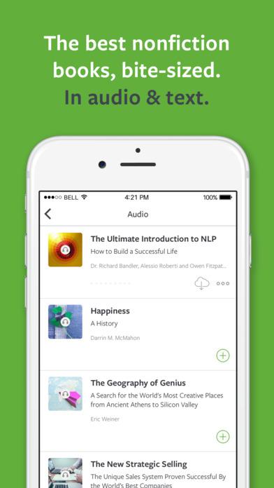 Blinkist app screen