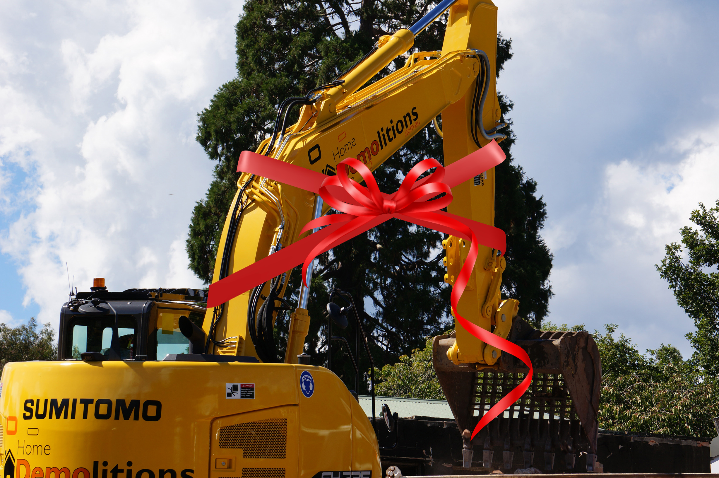 Our Sumitomo excavator is fresh off the dealership and ready to work.